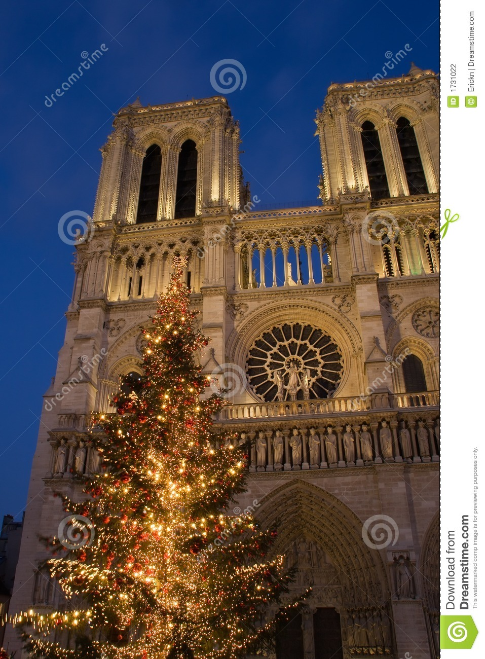 Christmas at Notre-Dame stock photo. Image of sacred, paris - 1731022