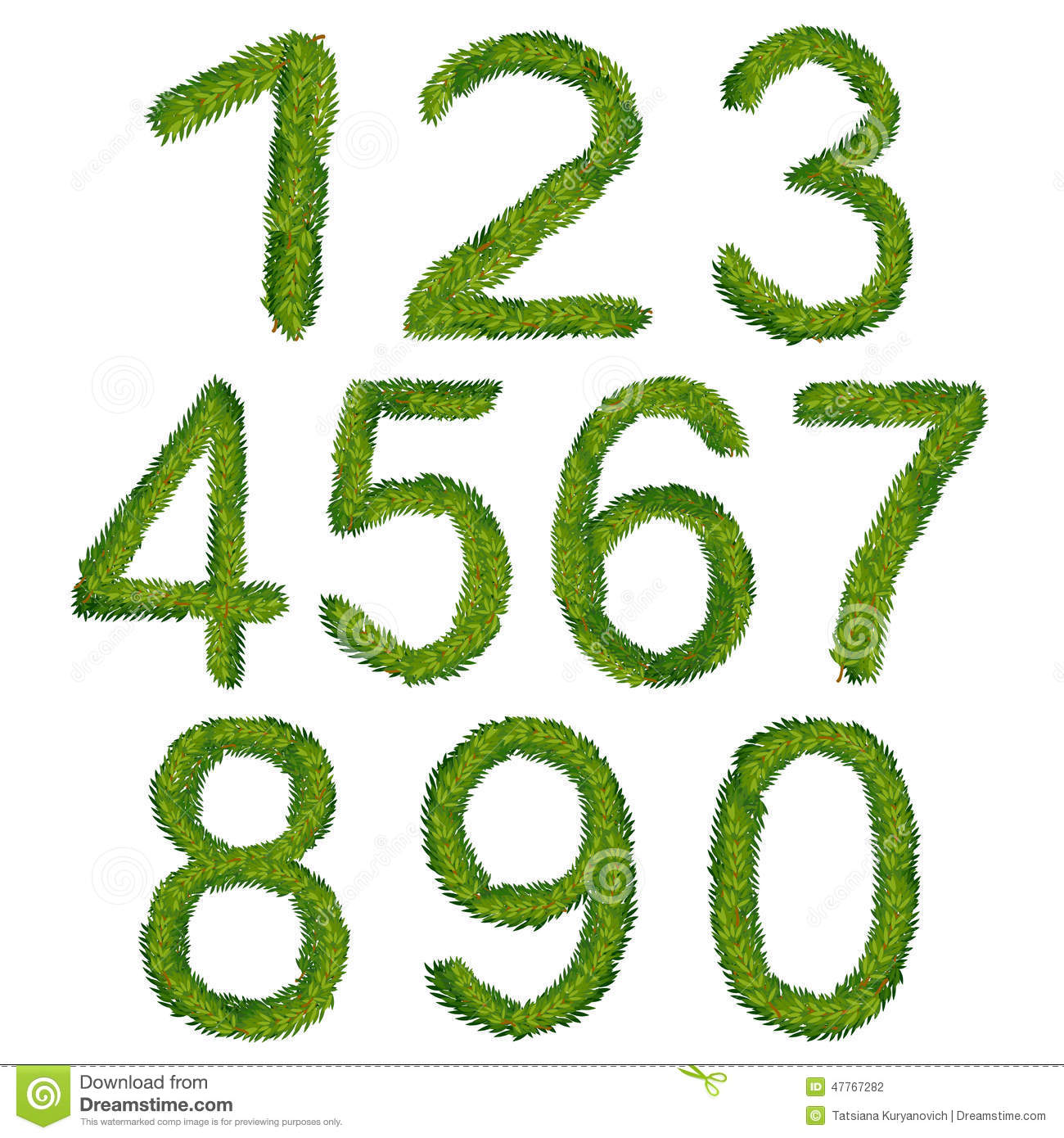 1234567890, Christmas Numbers, Illustration Stock Vector - Image ...