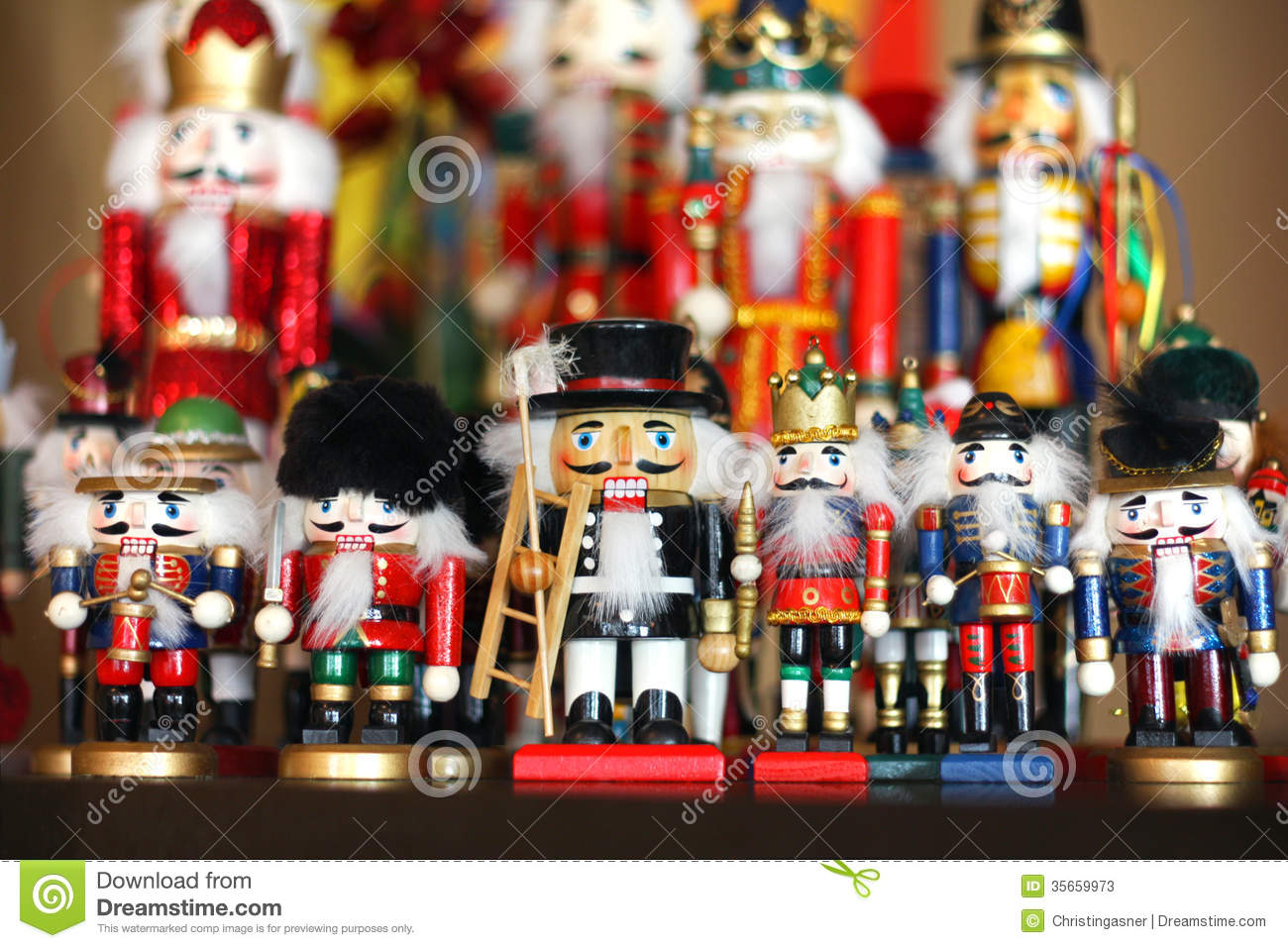 Christmas Nutcracker Collection Stock Image - Image of colorful ...