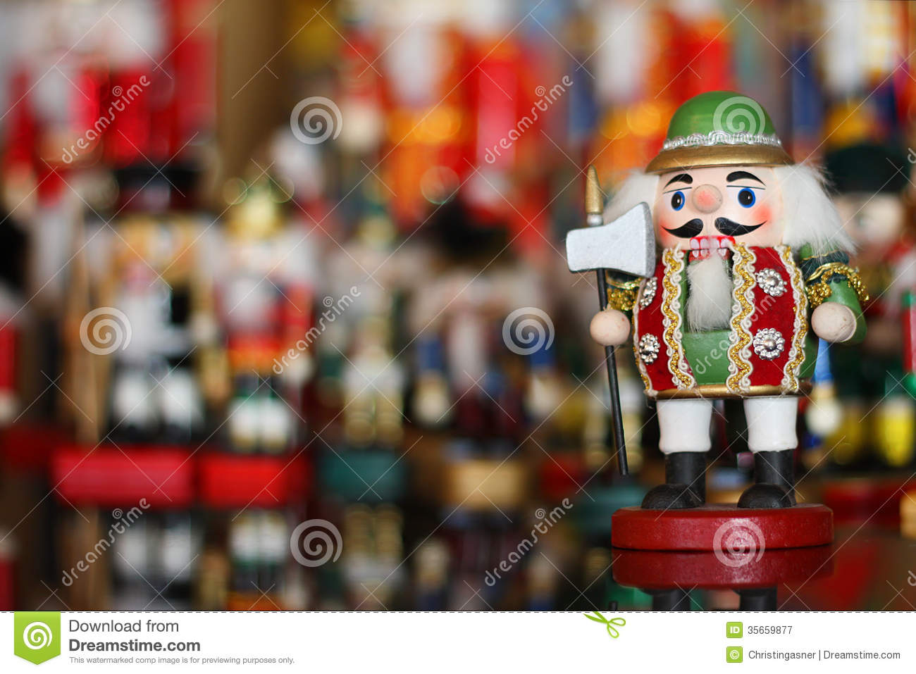 christmas nutcracker in front of collection of toy soldiers - Large Toy Soldier Christmas Decoration