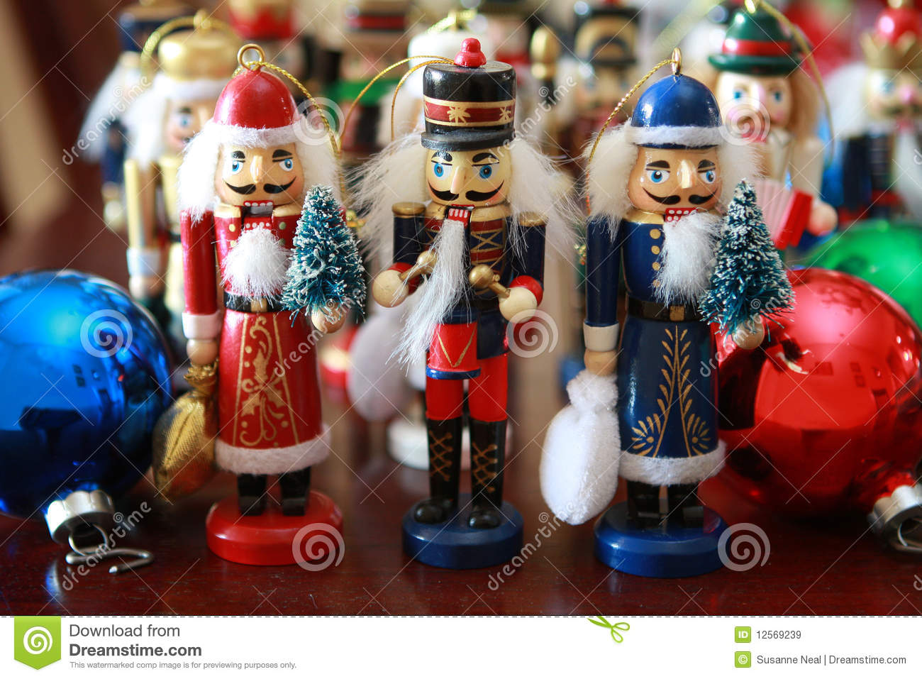 Christmas nutcrackers stock image. Image of blue, group - 12569239