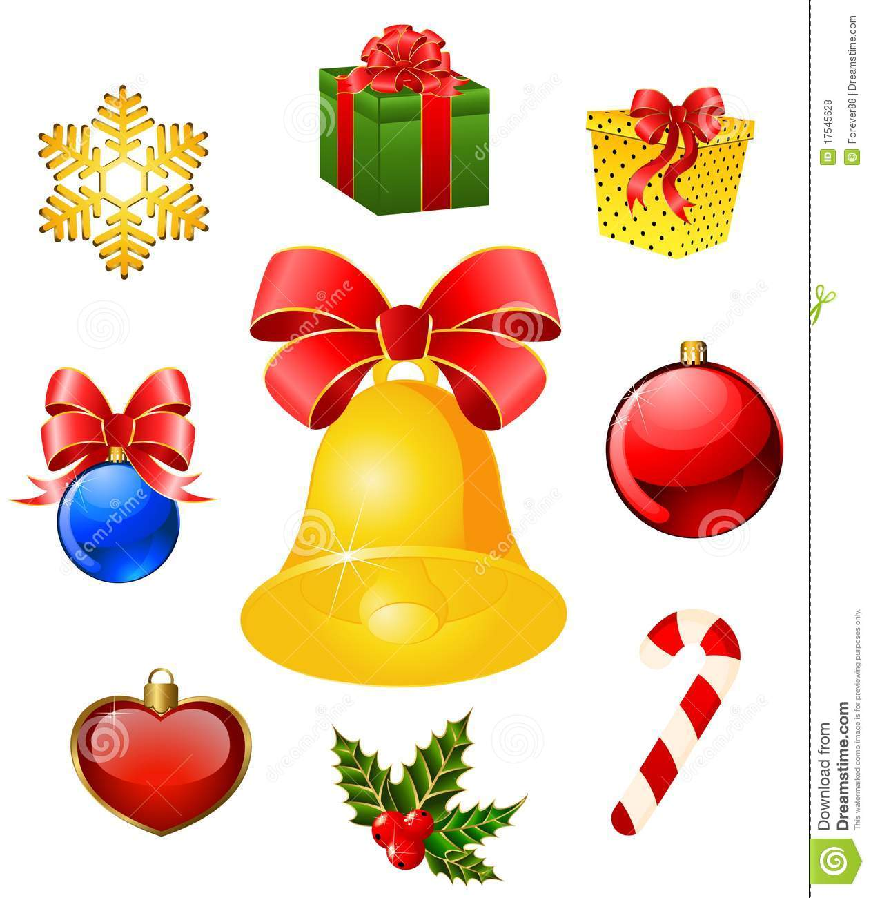 Christmas Objects On The Background Royalty Free Stock