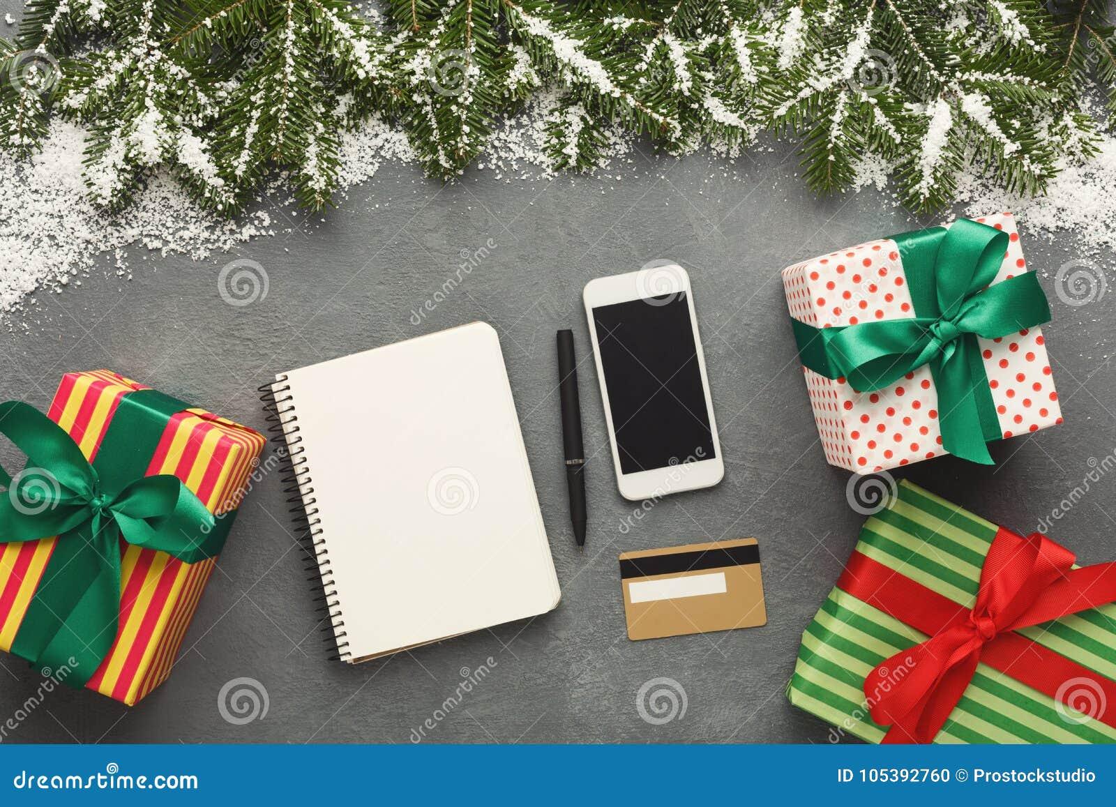 christmas wish list on wood table background stock photo image of