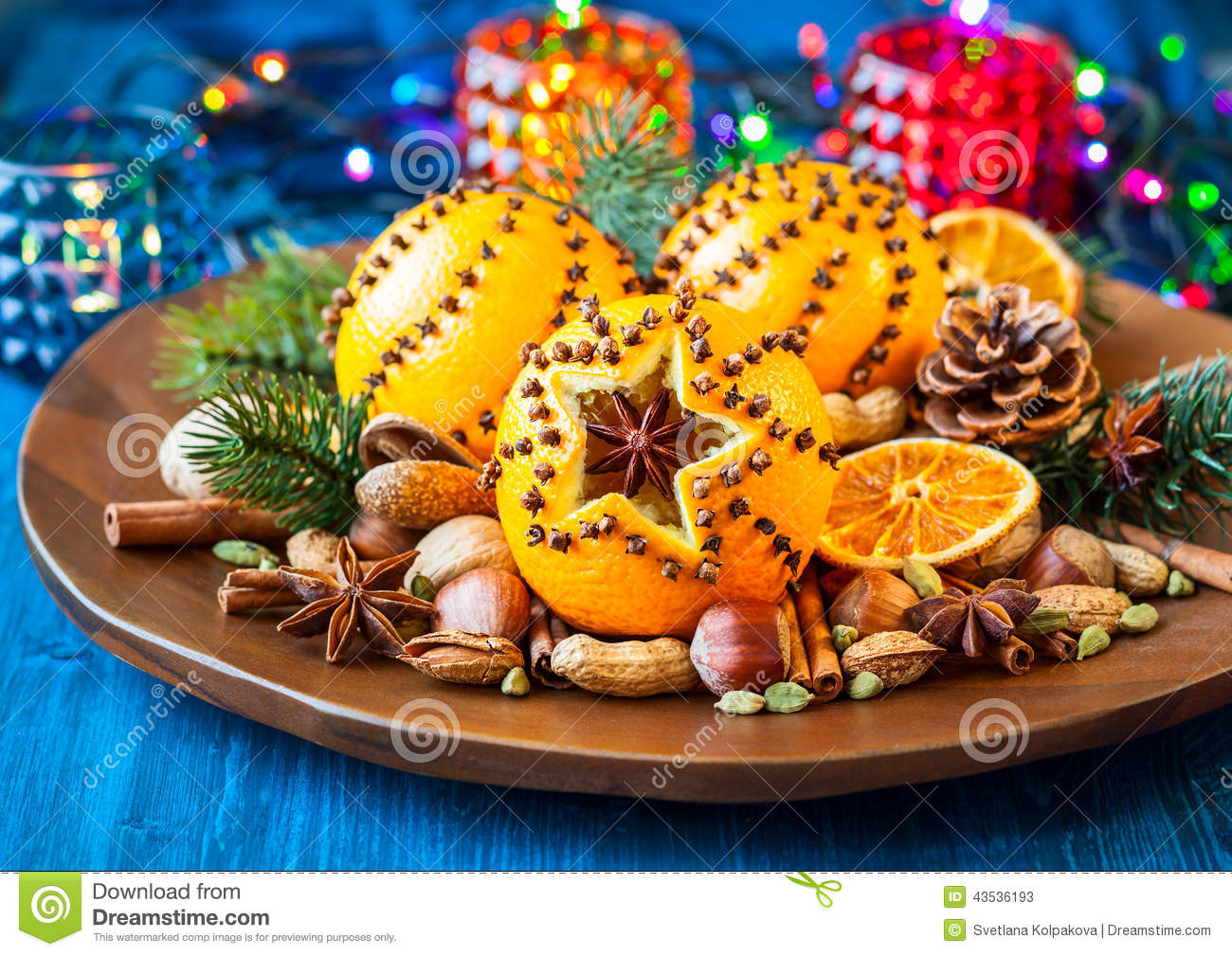 christmas orangesspices and nuts - Christmas Oranges