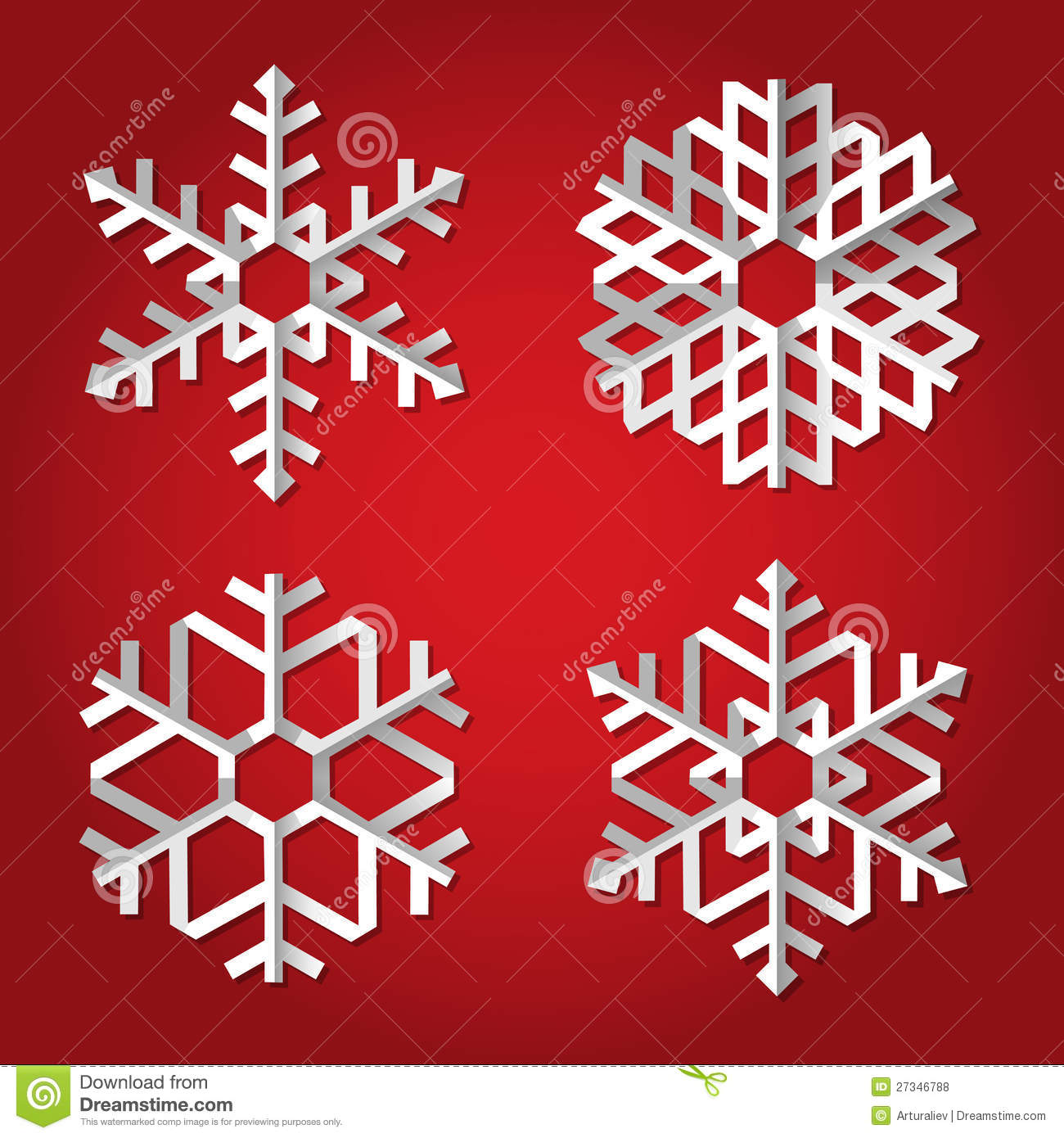 Origami snowflake stock photo Image of space pattern