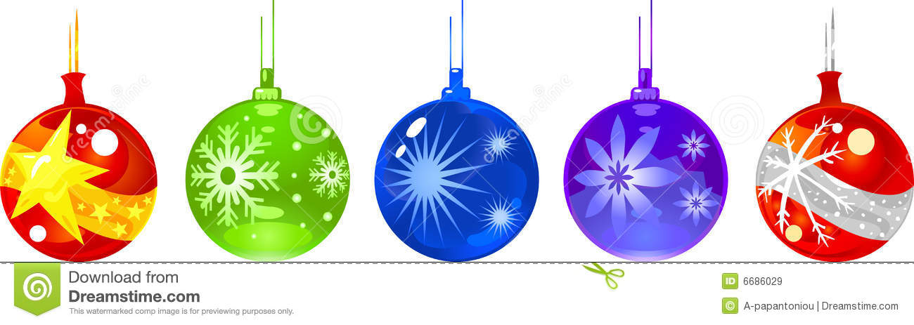 Christmas Ornament Balls Stock Vector Image Of Decoration 6686029
