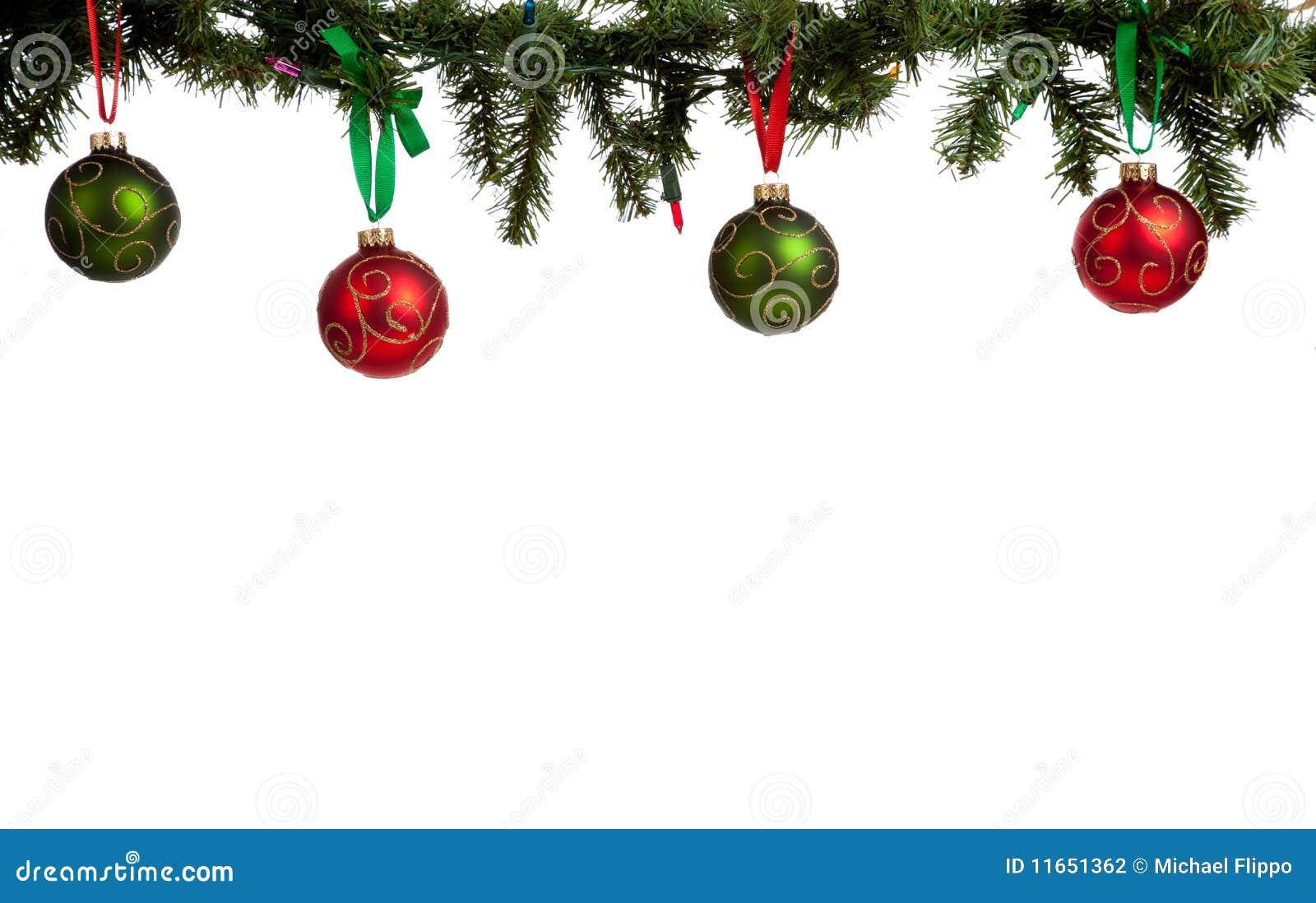 Christmas Garland Border Clip Art A christmas ornament border