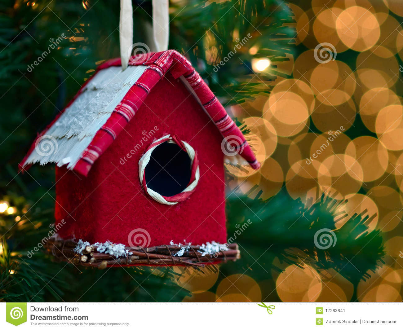 christmas ornament bird house - Bird House Christmas Decoration