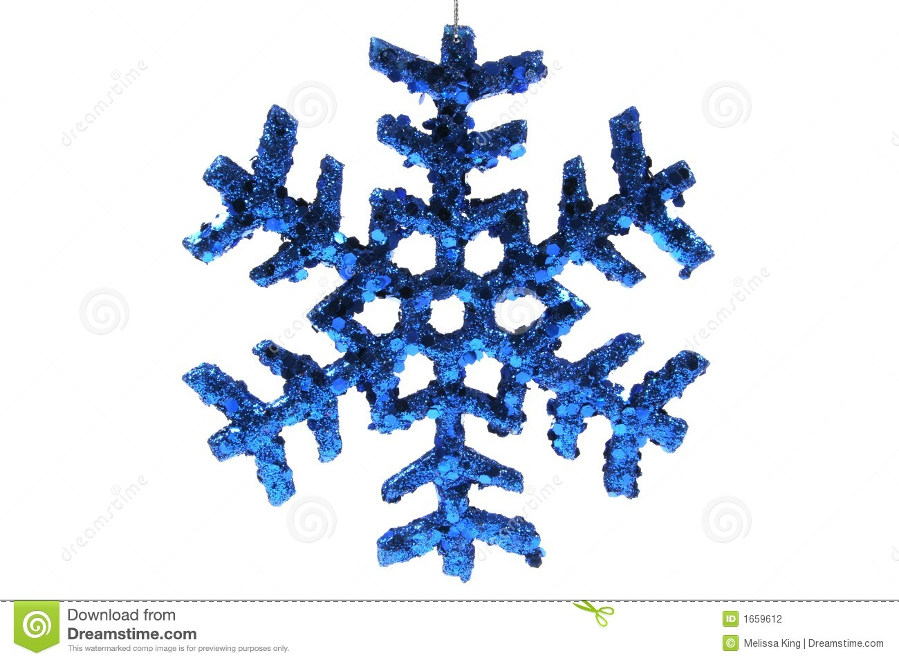 Christmas snowflake ornaments - Christmas Ornament Blue Snowflake