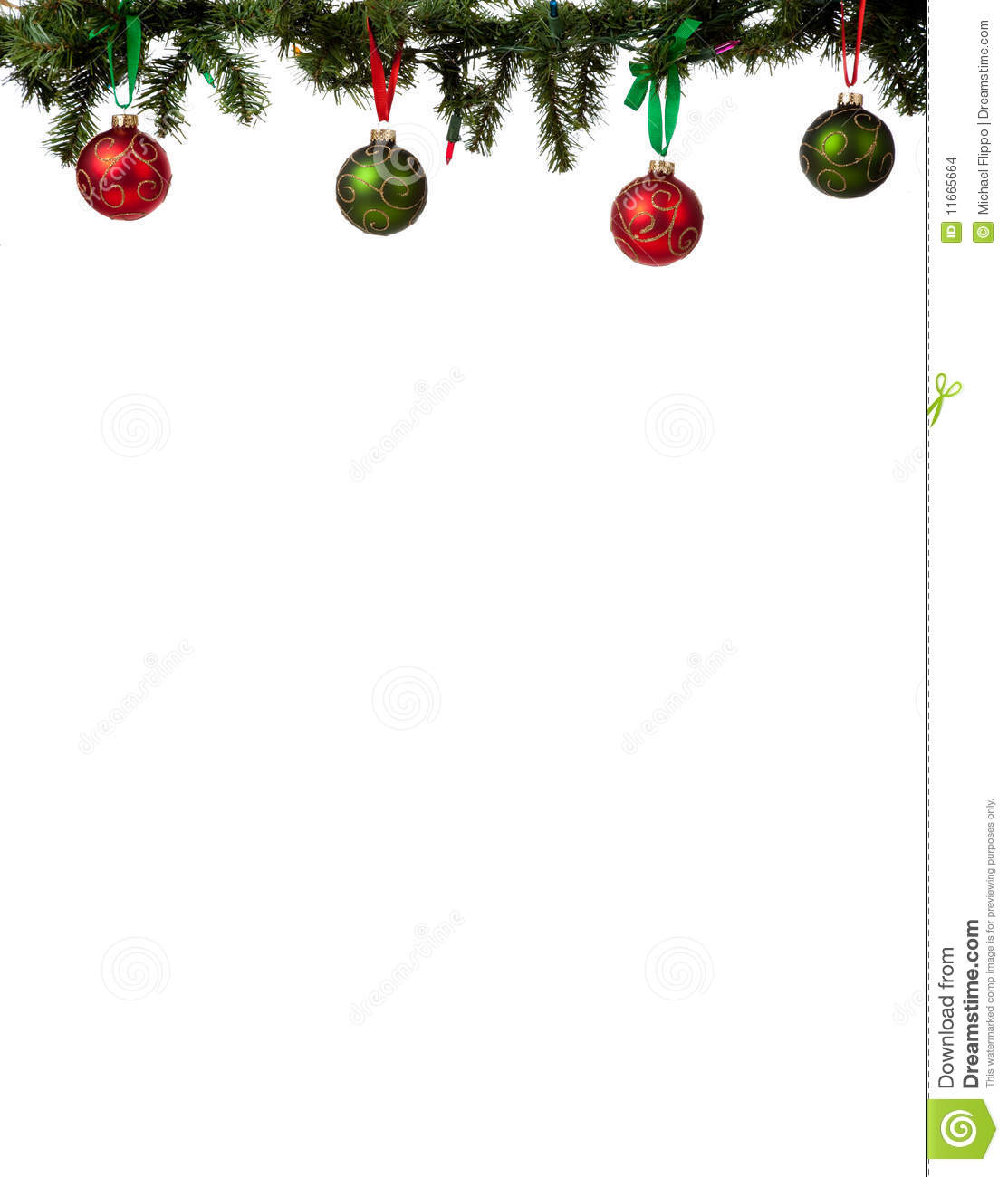Christmas ornament border stock images image