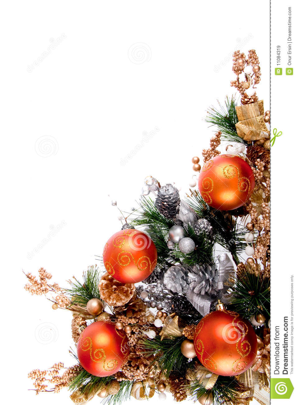 Christmas ornament corner decoration series royalty free