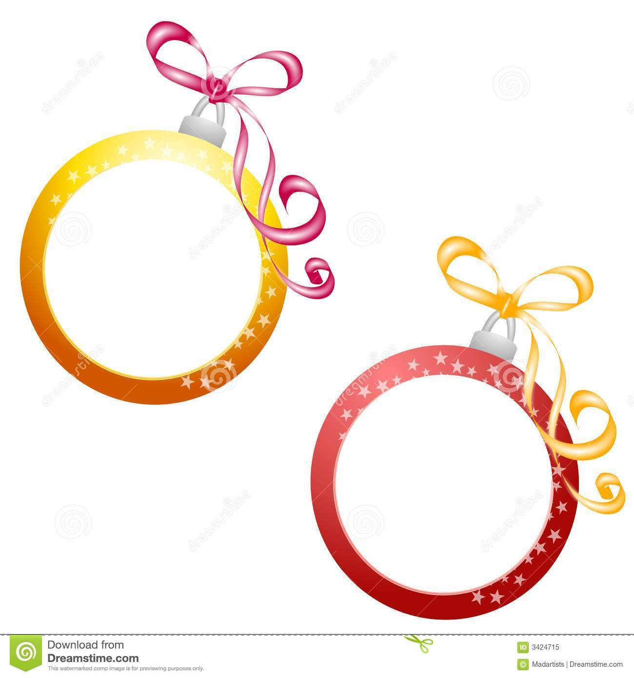 Christmas ornament frame stock illustration image of