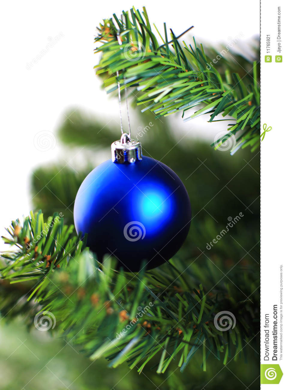 Christmas Ornament Hanging From A Xmas Tree Branch Stock