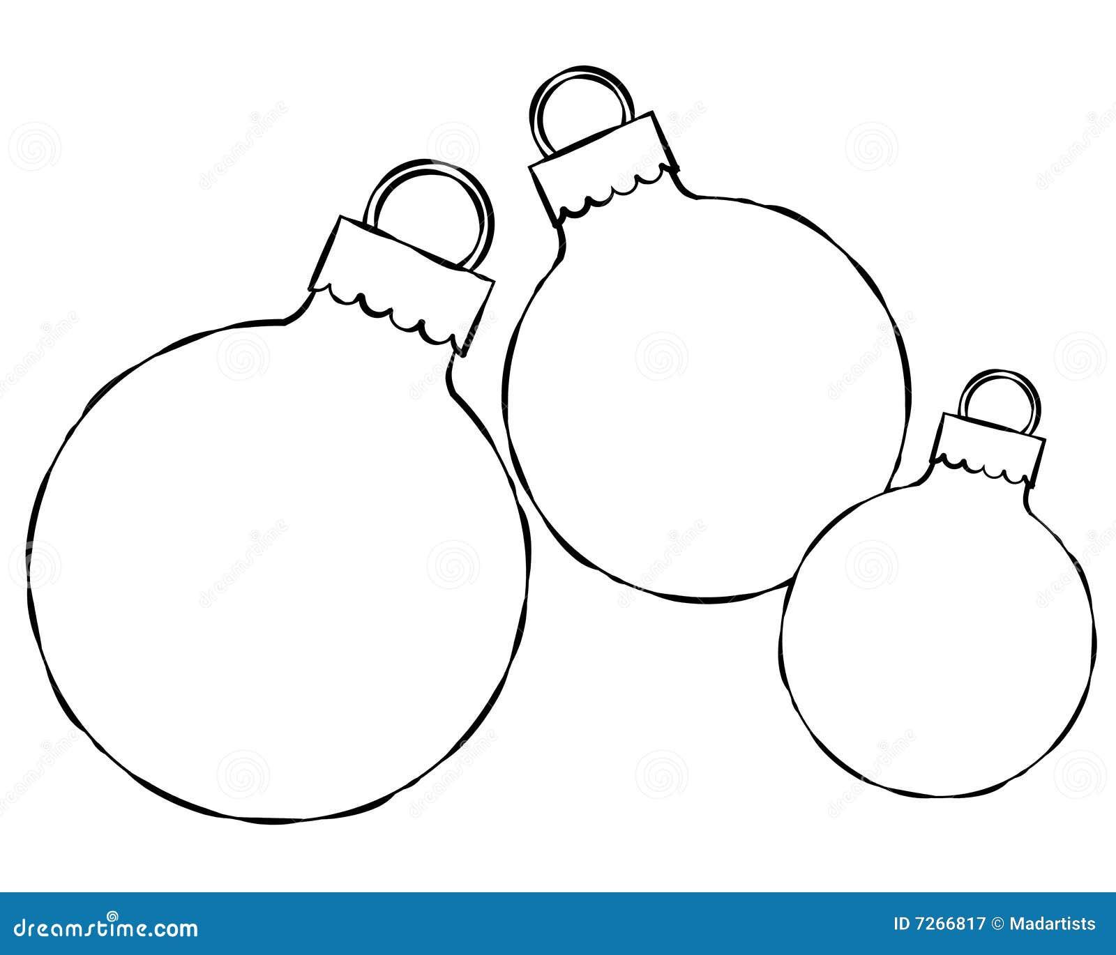 Christmas Ornament Outlines Christmas ornament frame
