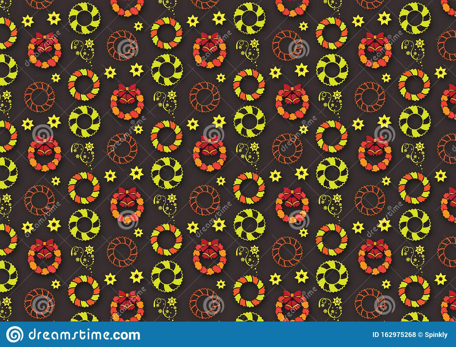 Christmas ornament pattern design background wallpaper