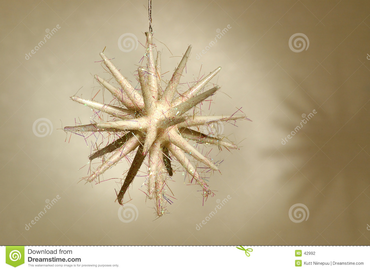 Christmas ornament - White star