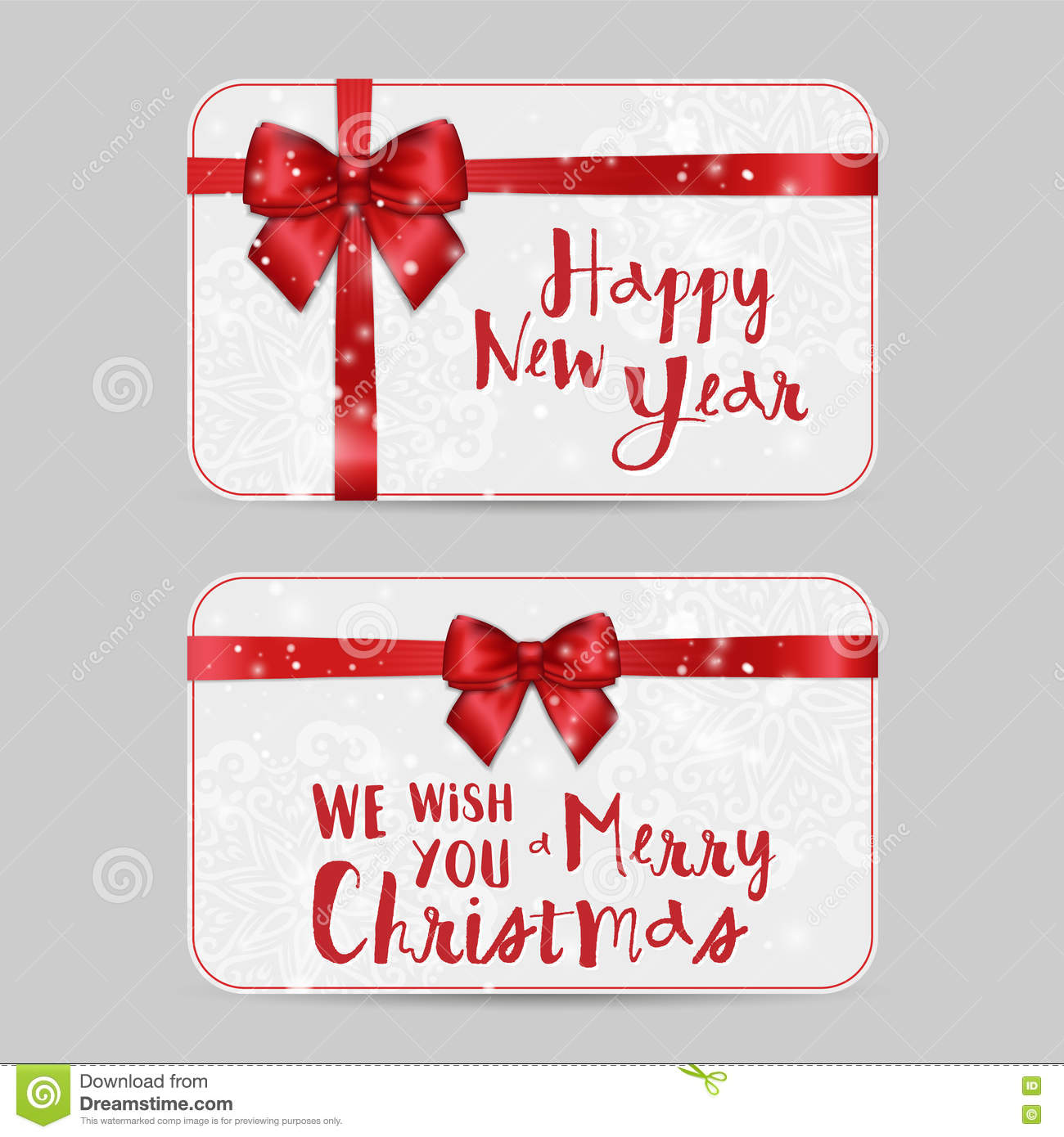 merry christmas gift voucher certificate template design stock christmas or ntal cards shiny holiday red satin ribbon new year template for greetings