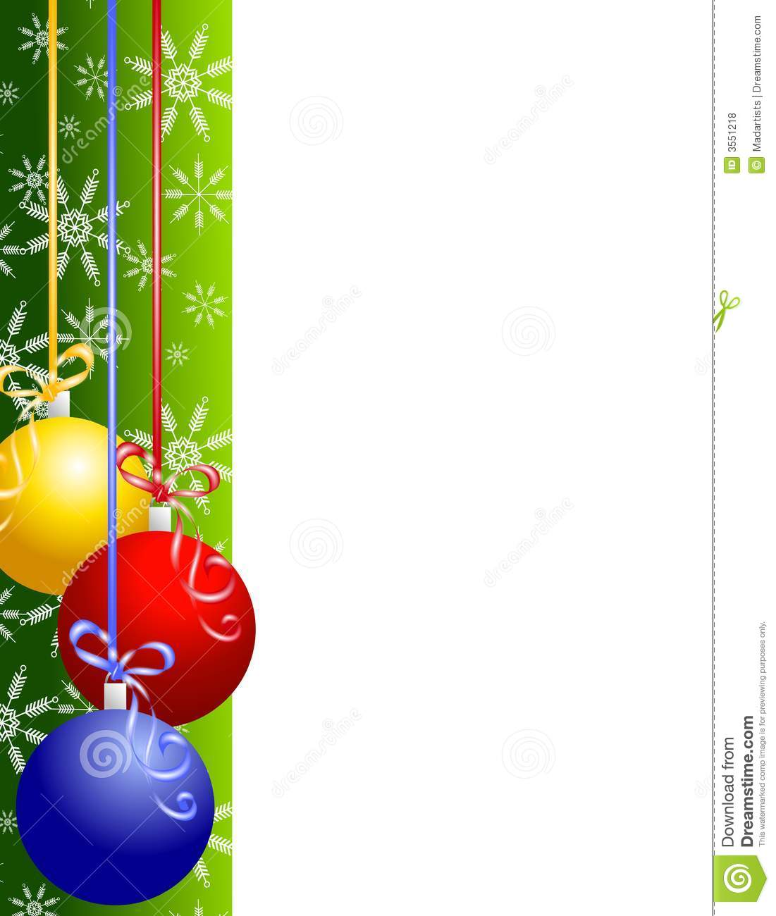 Christmas Ornaments Border Stock Illustration Illustration Of