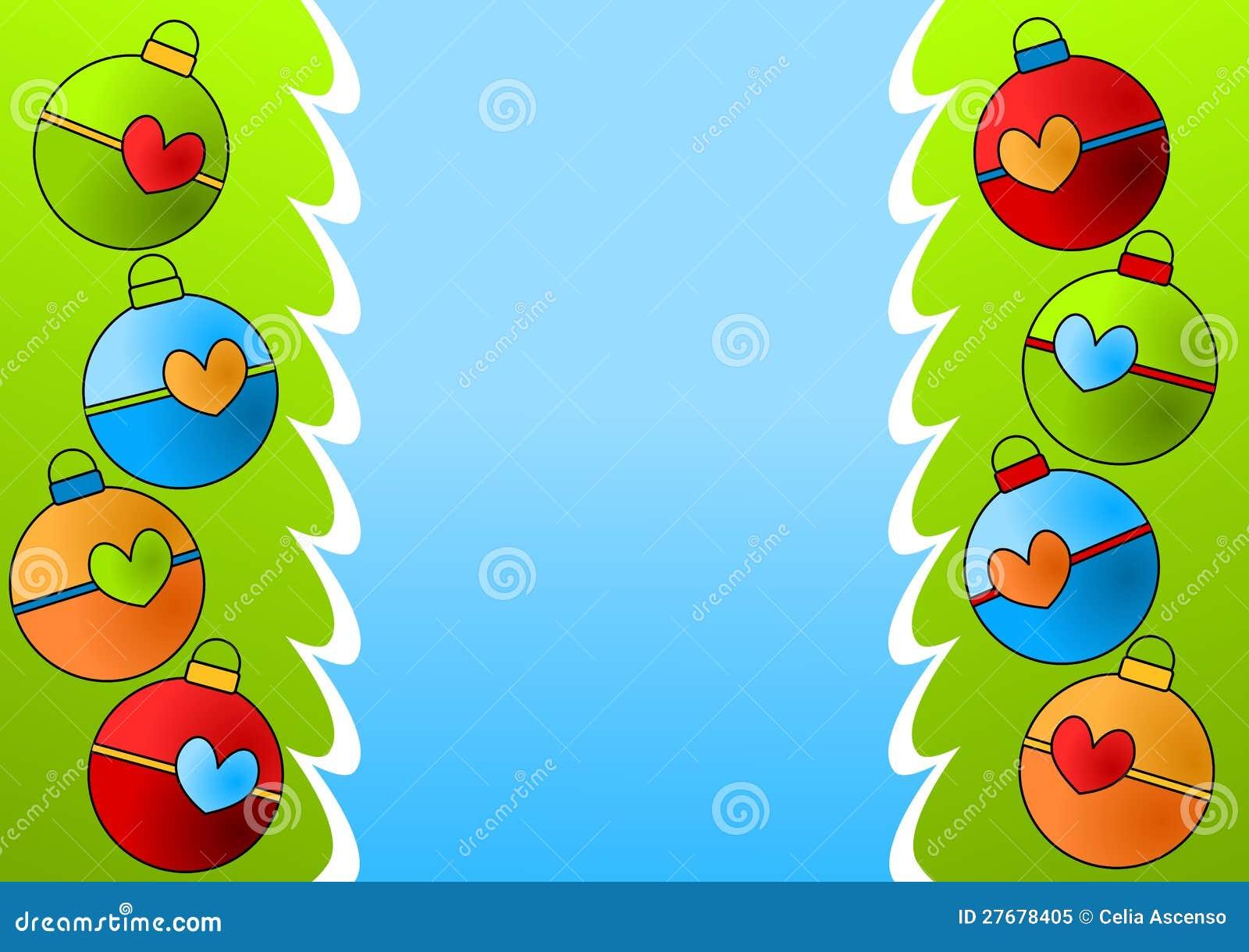 Border Card Christmas Greeting Ornaments