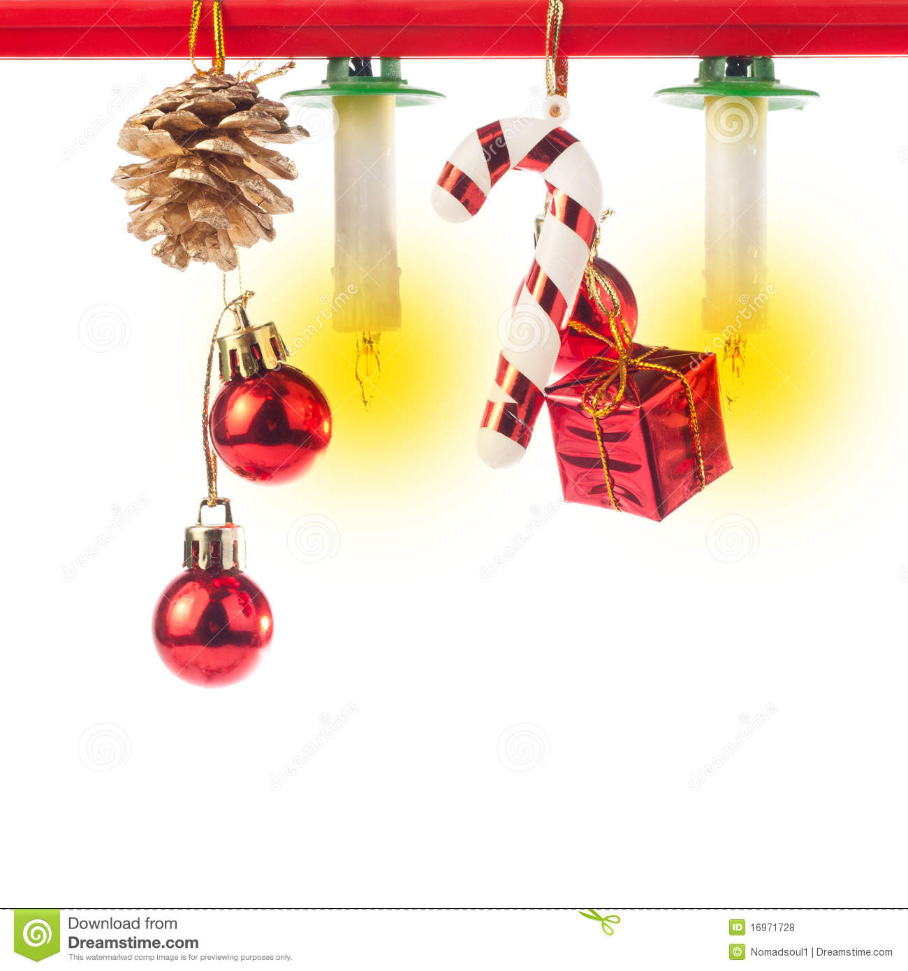 Christmas ornaments and candles stock photo image 16971728 for Christmas candles and ornaments