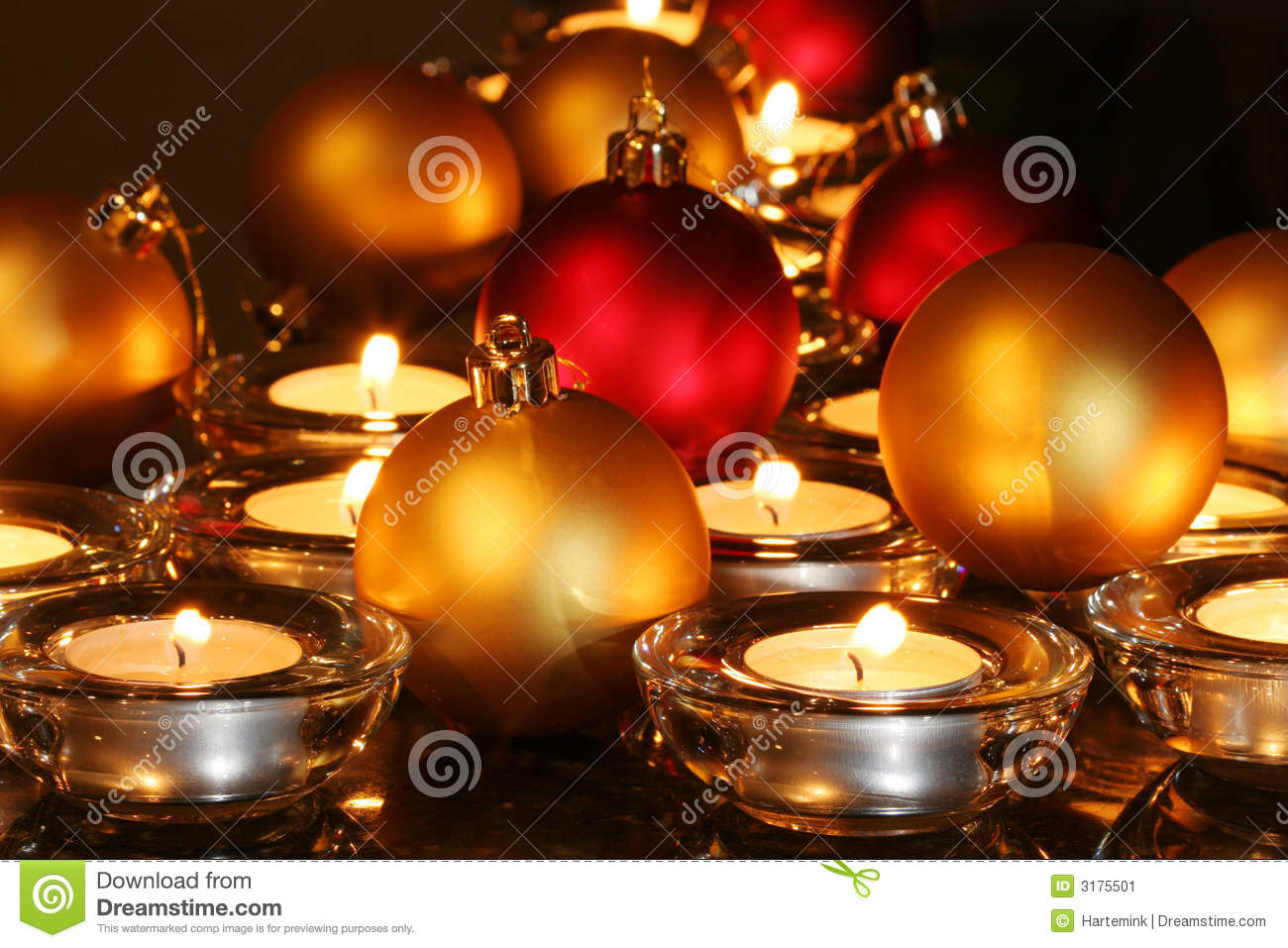 Christmas ornaments candles stock image image 3175501 for Christmas candles and ornaments