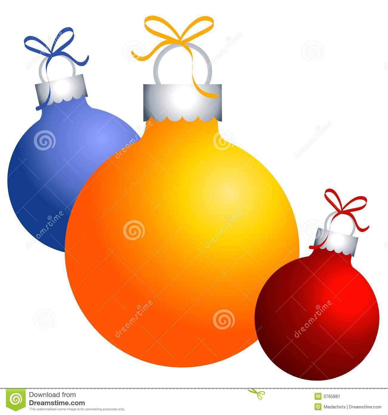 Clip Art Clip On Christmas Ornaments christmas ornaments clip art stock image 3765881 art