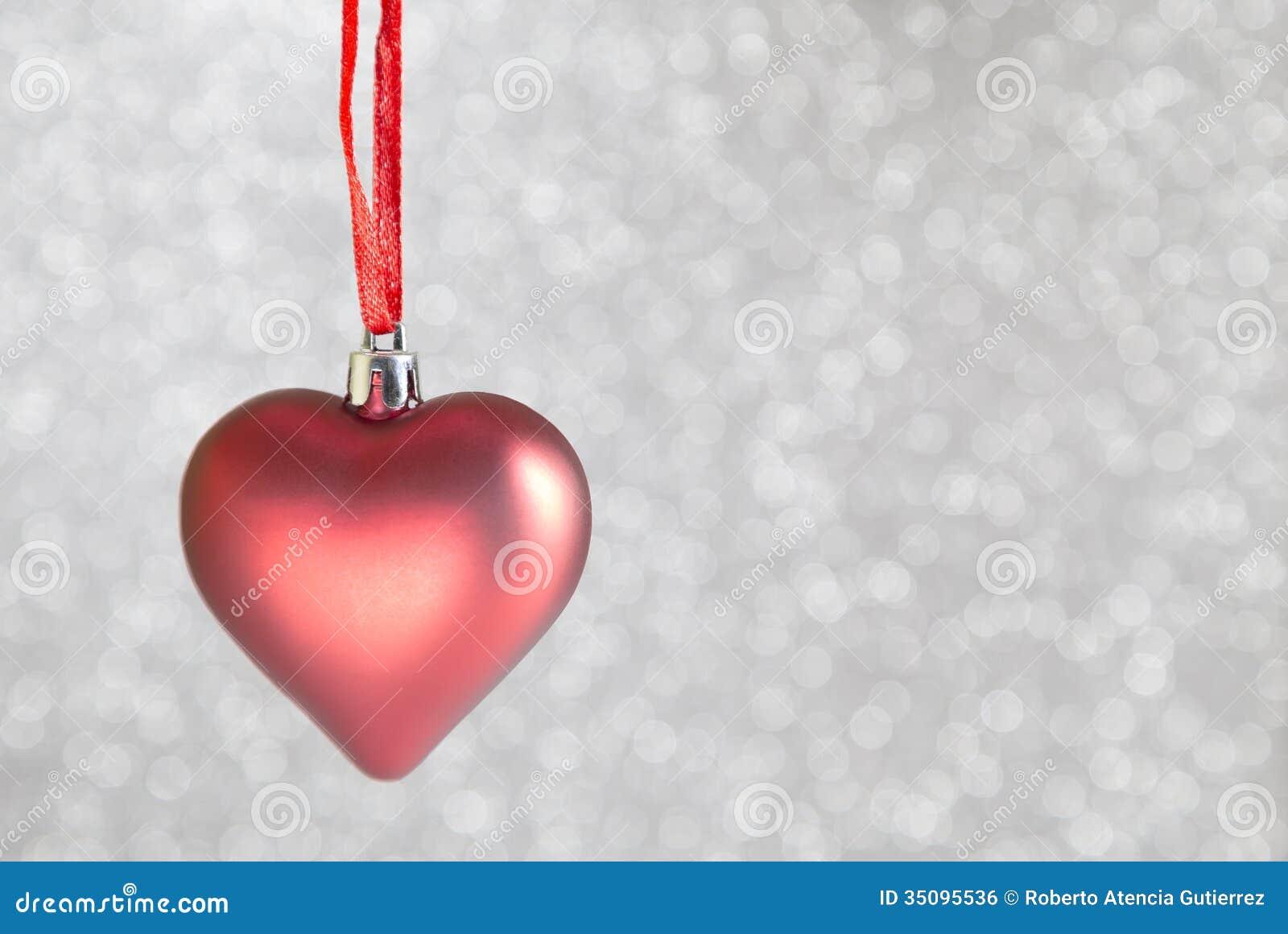 Christmas ornaments heart shaped stock photo image