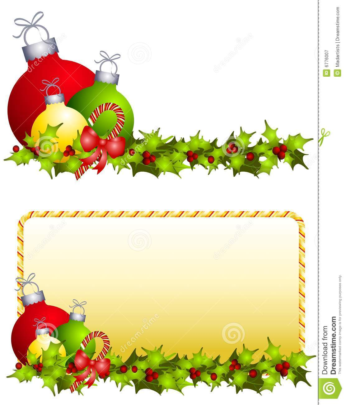 Holly christmas ornaments - Candy Canes Christmas Holly Illustration Images Ornaments