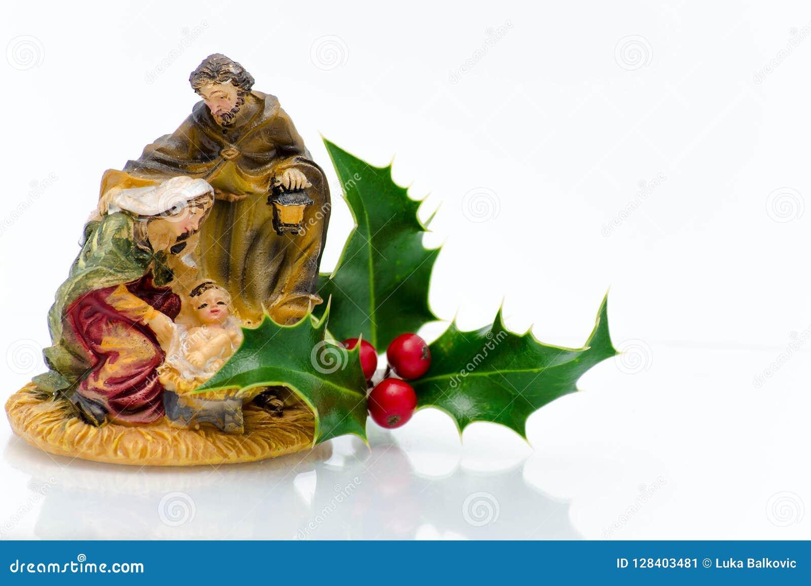 Christmas ornaments - holly family ornament