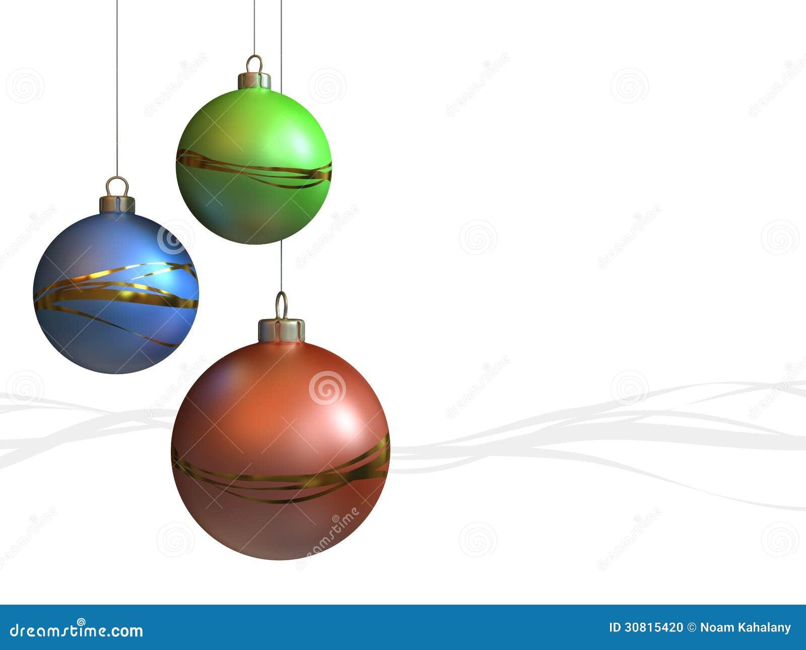 Christmas ornaments modern stock photo image