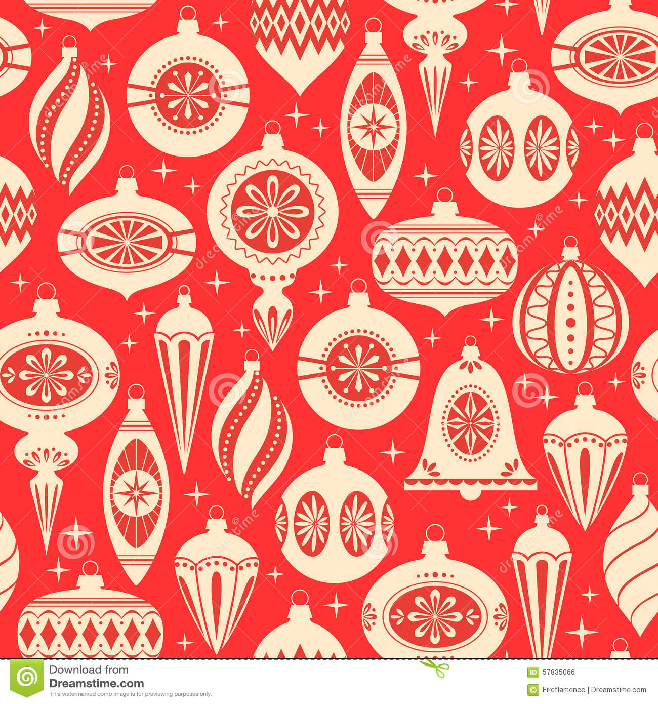 Christmas ornaments pattern stock vector illustration of vector christmas ornaments pattern maxwellsz