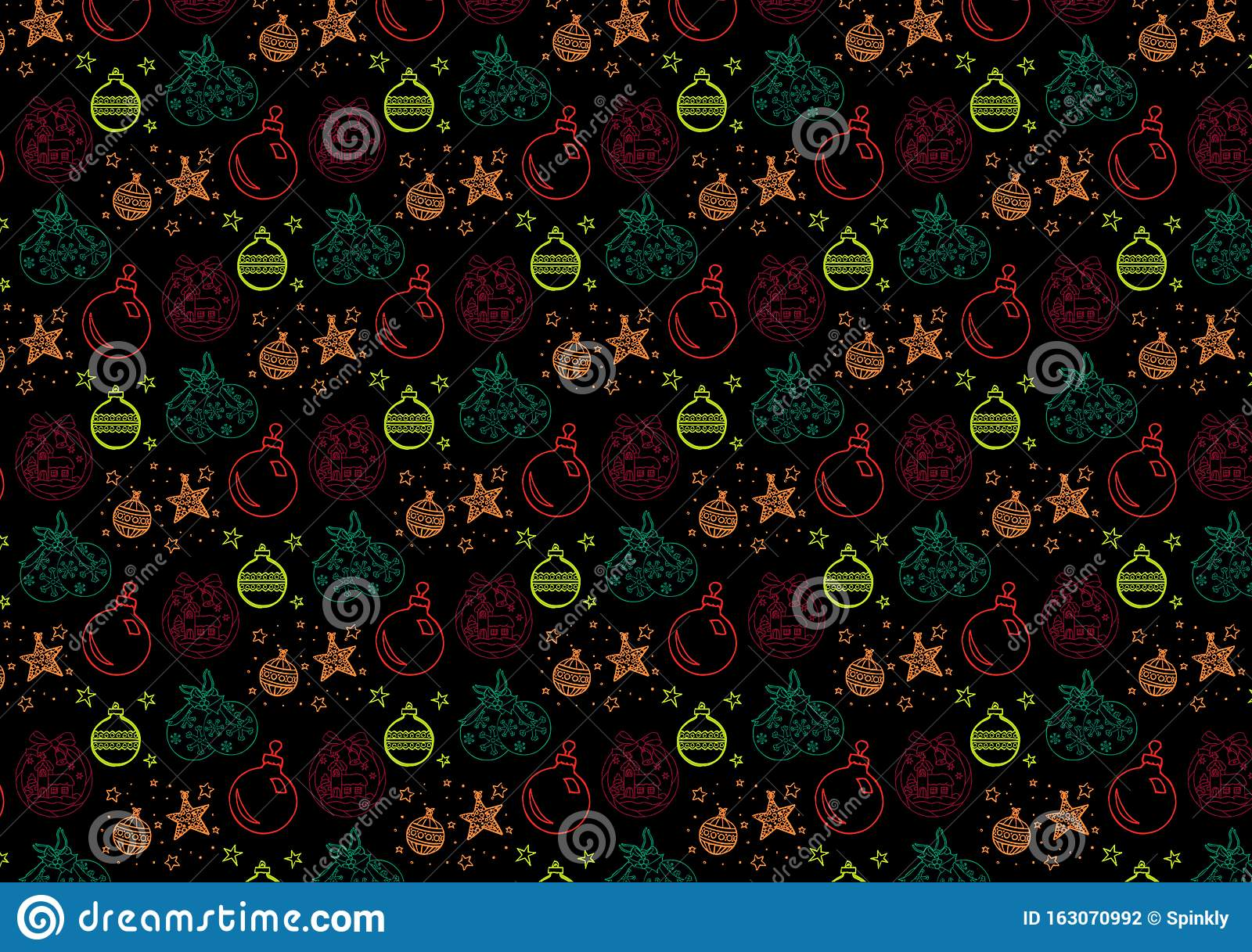 Christmas ornaments pattern wallpaper background