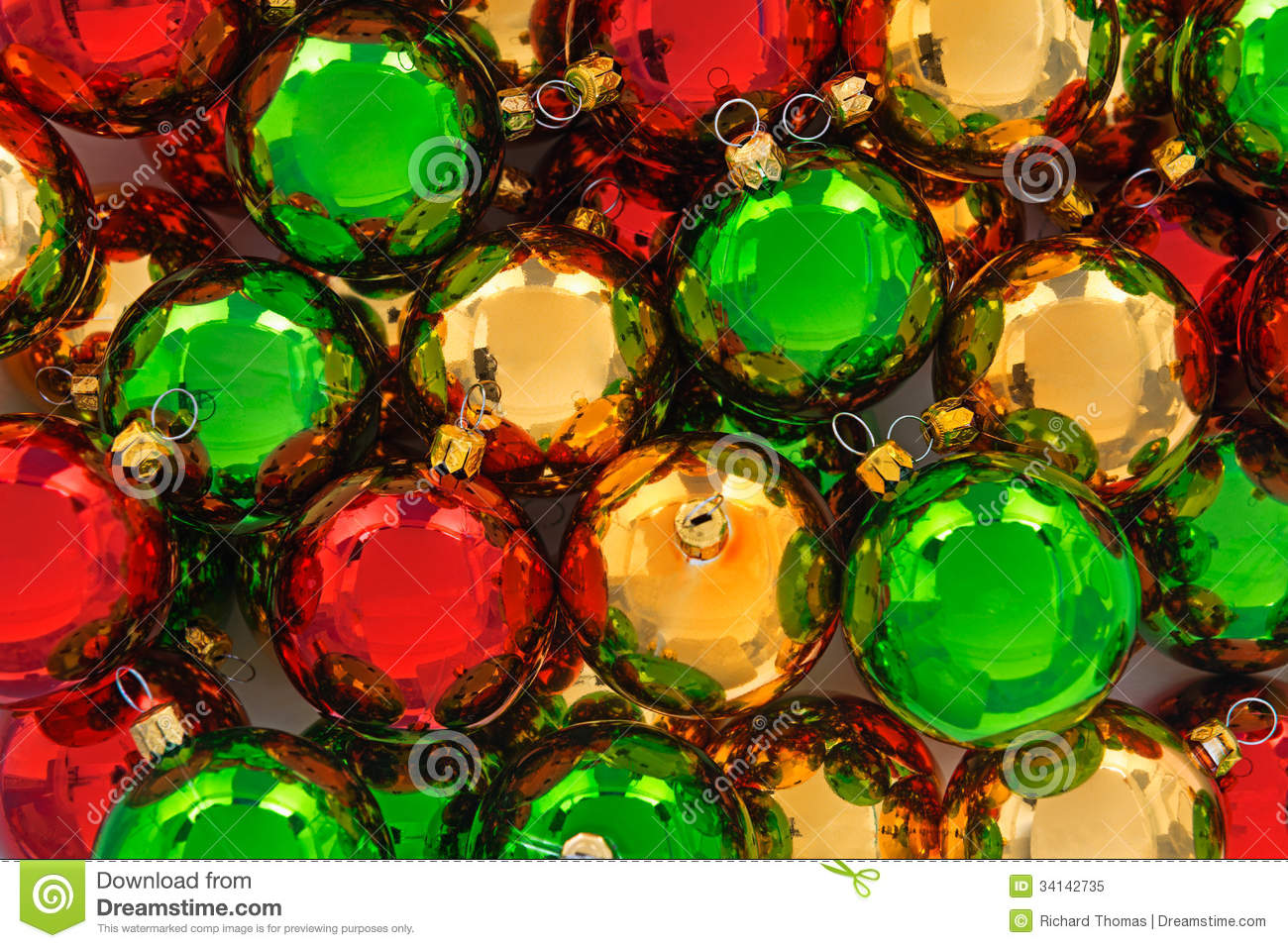 Christmas ornaments stock image image of wallpaper for Red and green christmas decorations