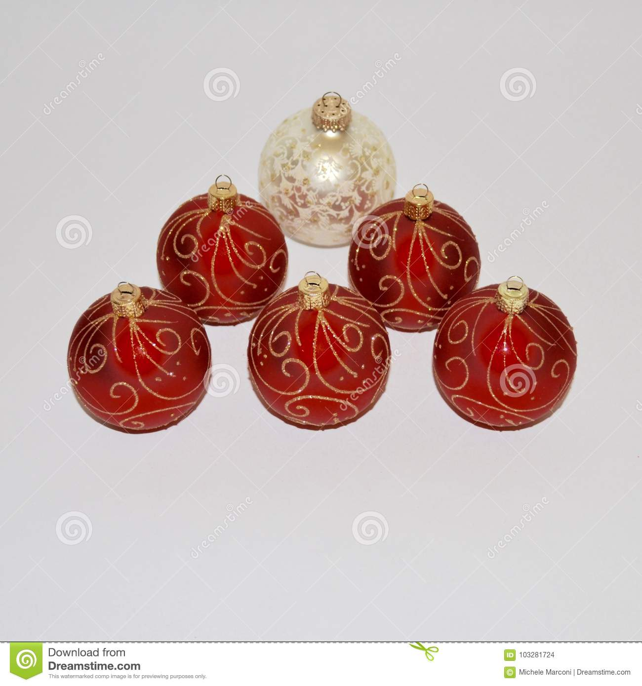 download christmas ornaments red and white christmas decorations stock photo image of ornament