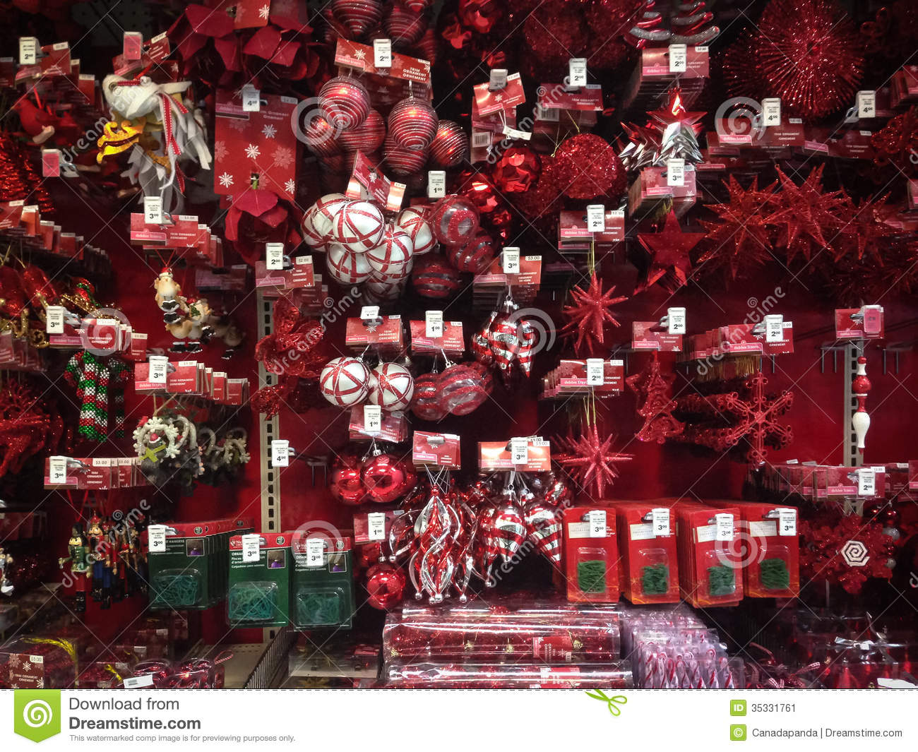 Christmas Decorations At Canadian Tire : Christmas ornaments for sale editorial photo image
