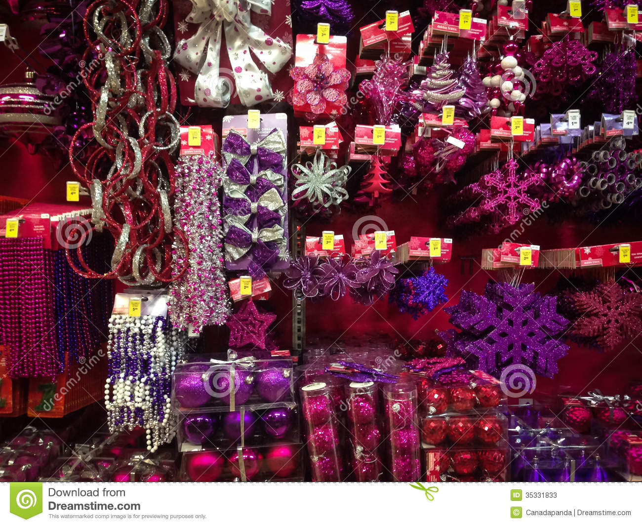 Christmas Ornaments For Sale Editorial Stock Photo - Image ...