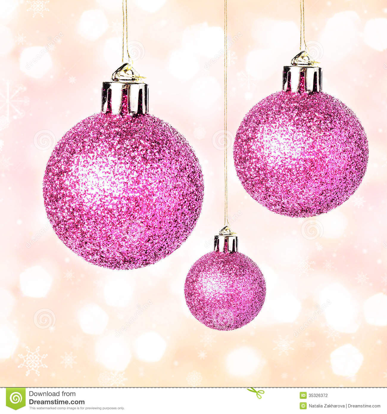 Christmas ornaments with shiny festive balls hanging on gold fes stock photography image 35326372 - Hanging christmas ornaments ...