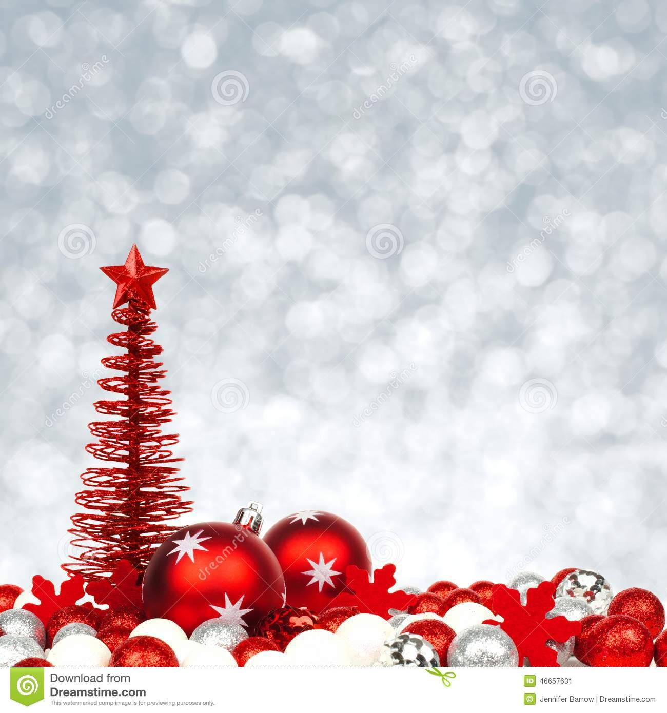 Christmas Ornaments With Twinkling Background Stock Image ...