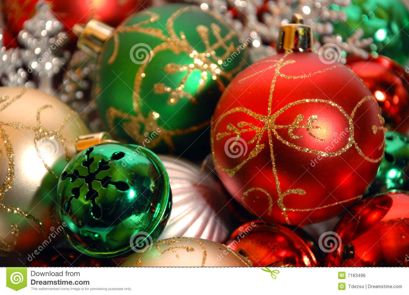 Christmas Ornaments On White Background Royalty Free Stock