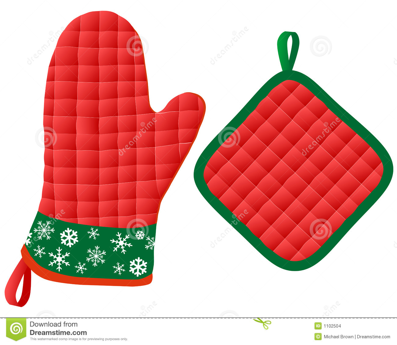 Christmas Oven Mitts & Potholder Stock Vector ...