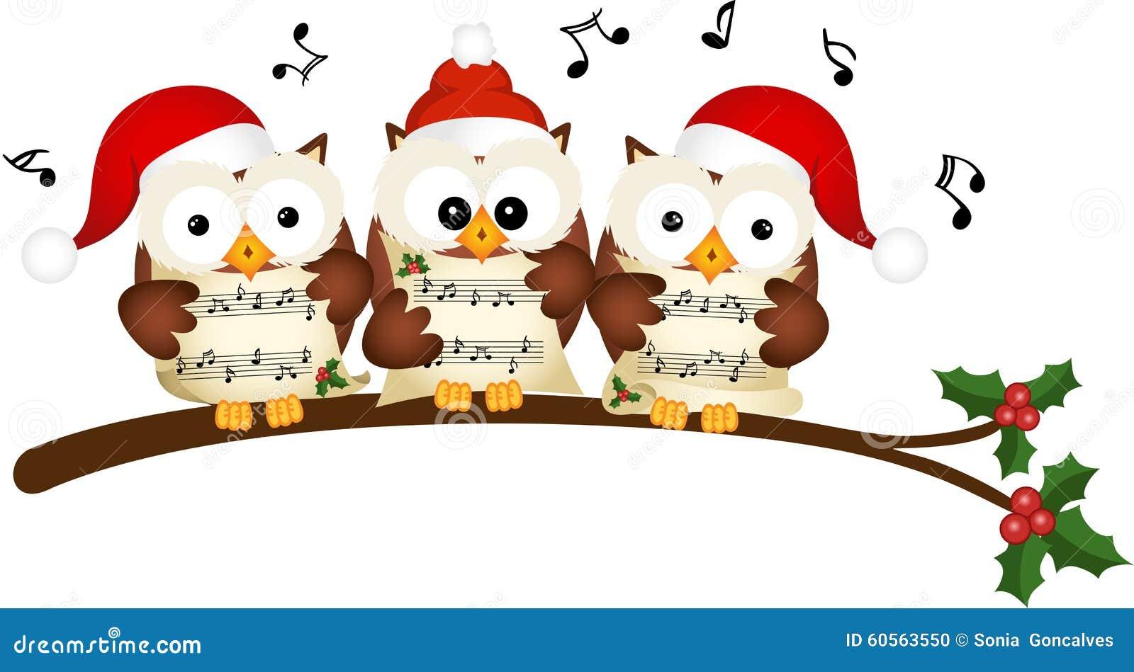 christmas owls choir singing stock vector image 60563550 clipart teddy bears free clip art teddy bears black and white
