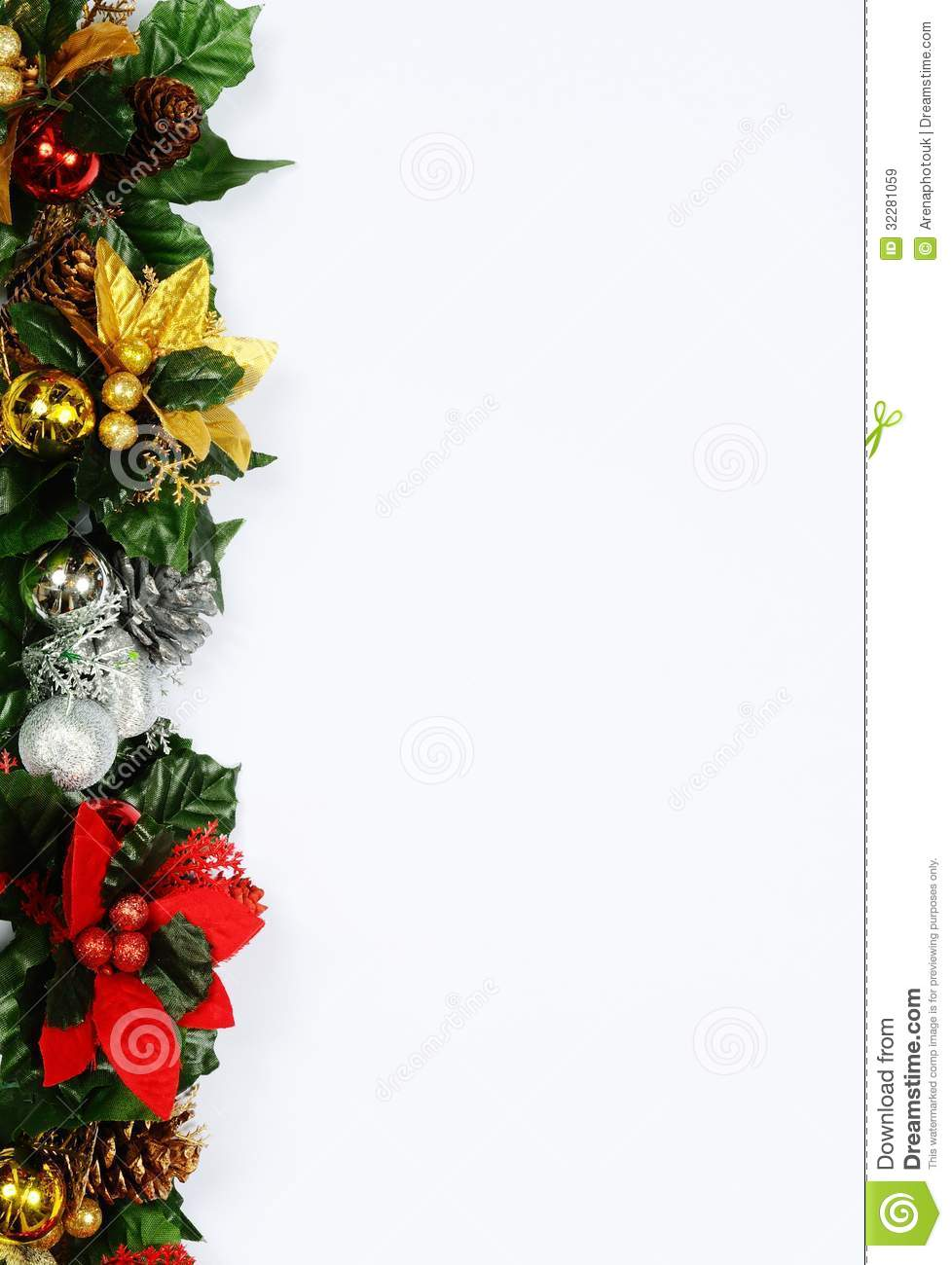 Christmas Page Edging. Royalty Free Stock Images - Image: 32281059