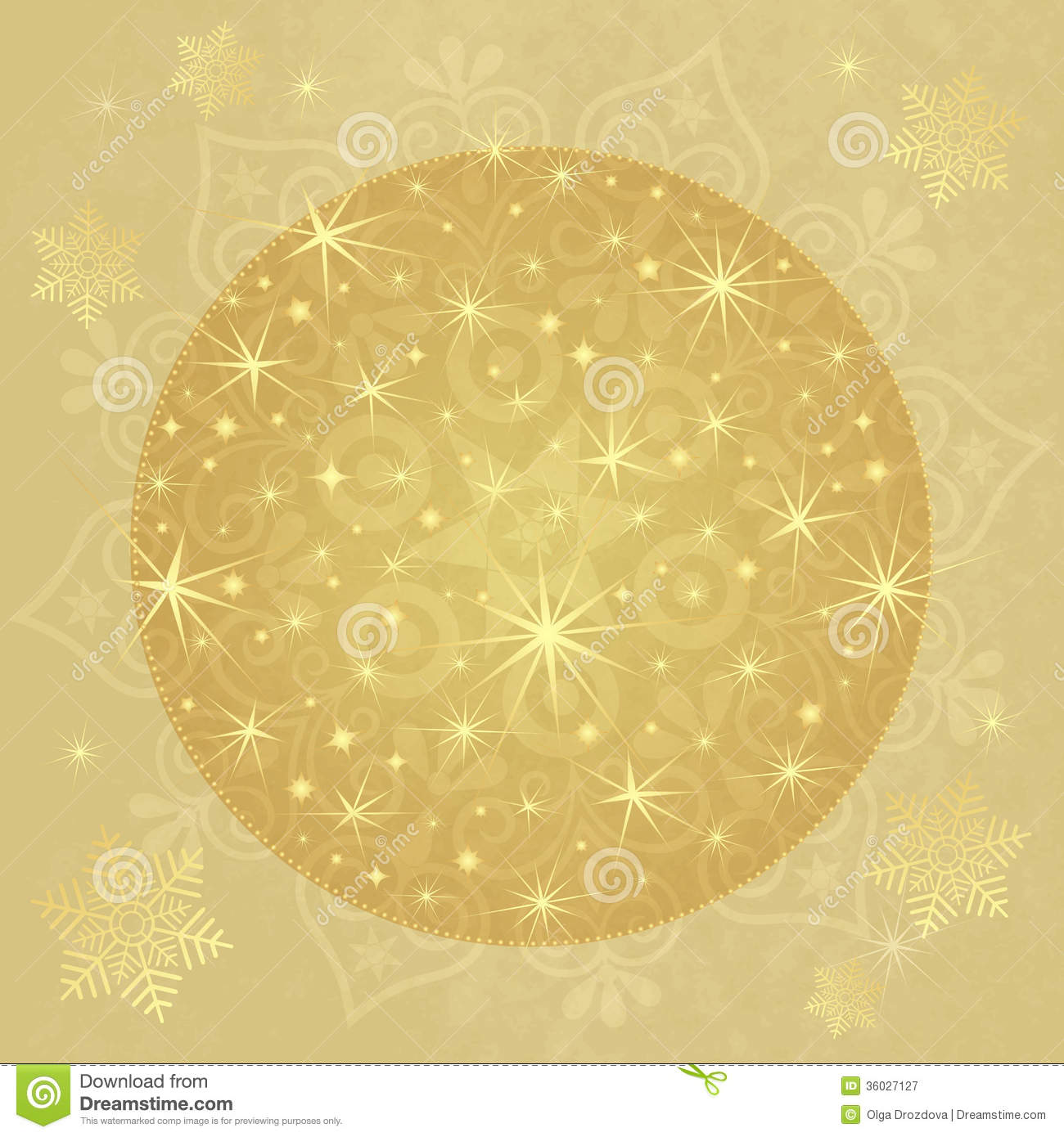Christmas Paper With Gold Ball Stock Vector - Image: 36027127