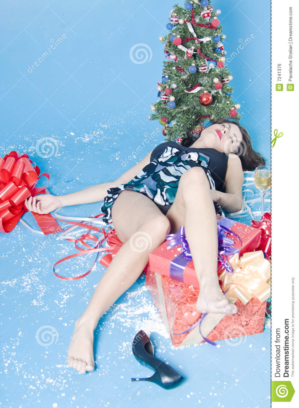 After Christmas Party Royalty Free Stock Image - Image: 7241376