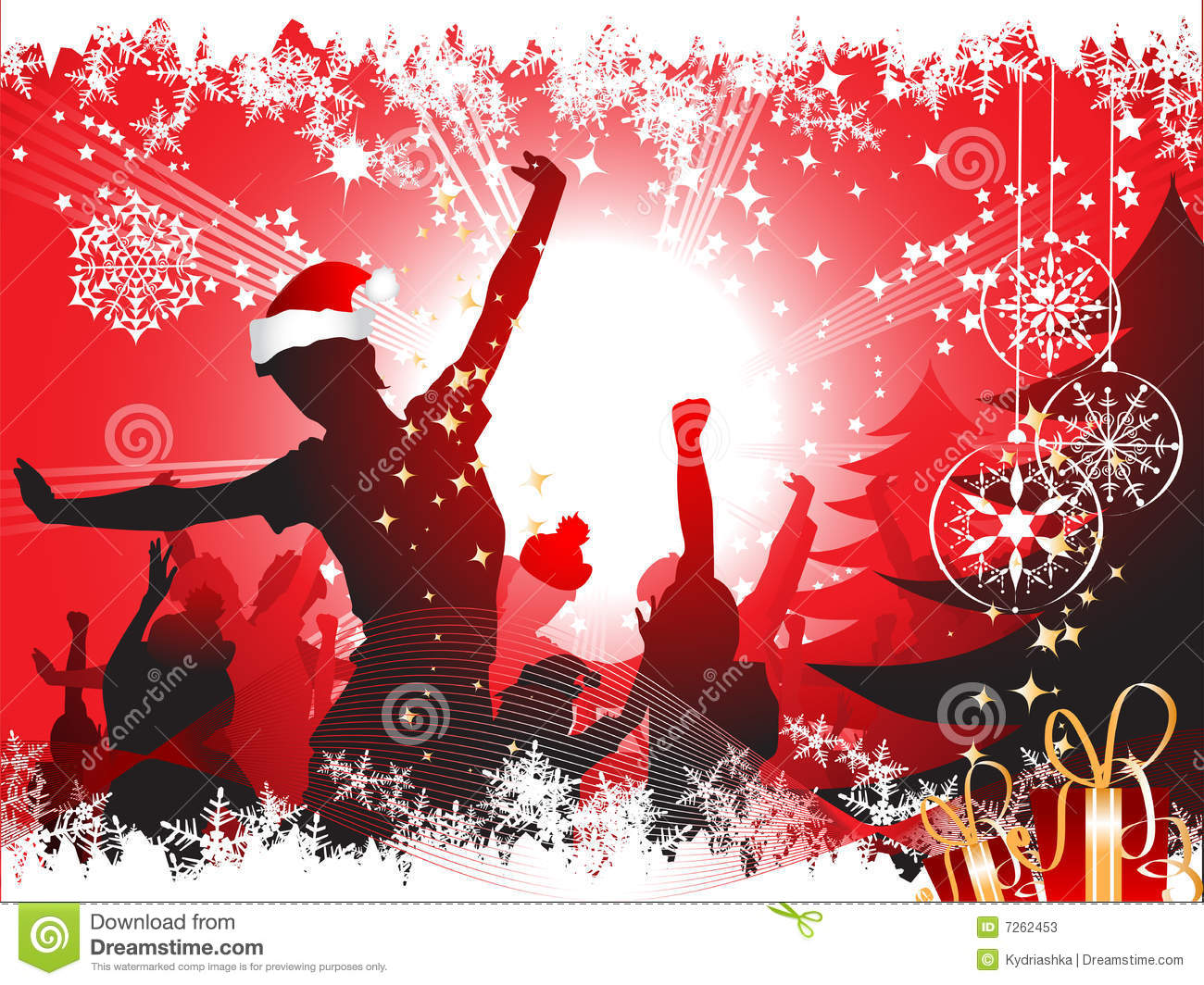 Christmas party background stock vector. Image of ...