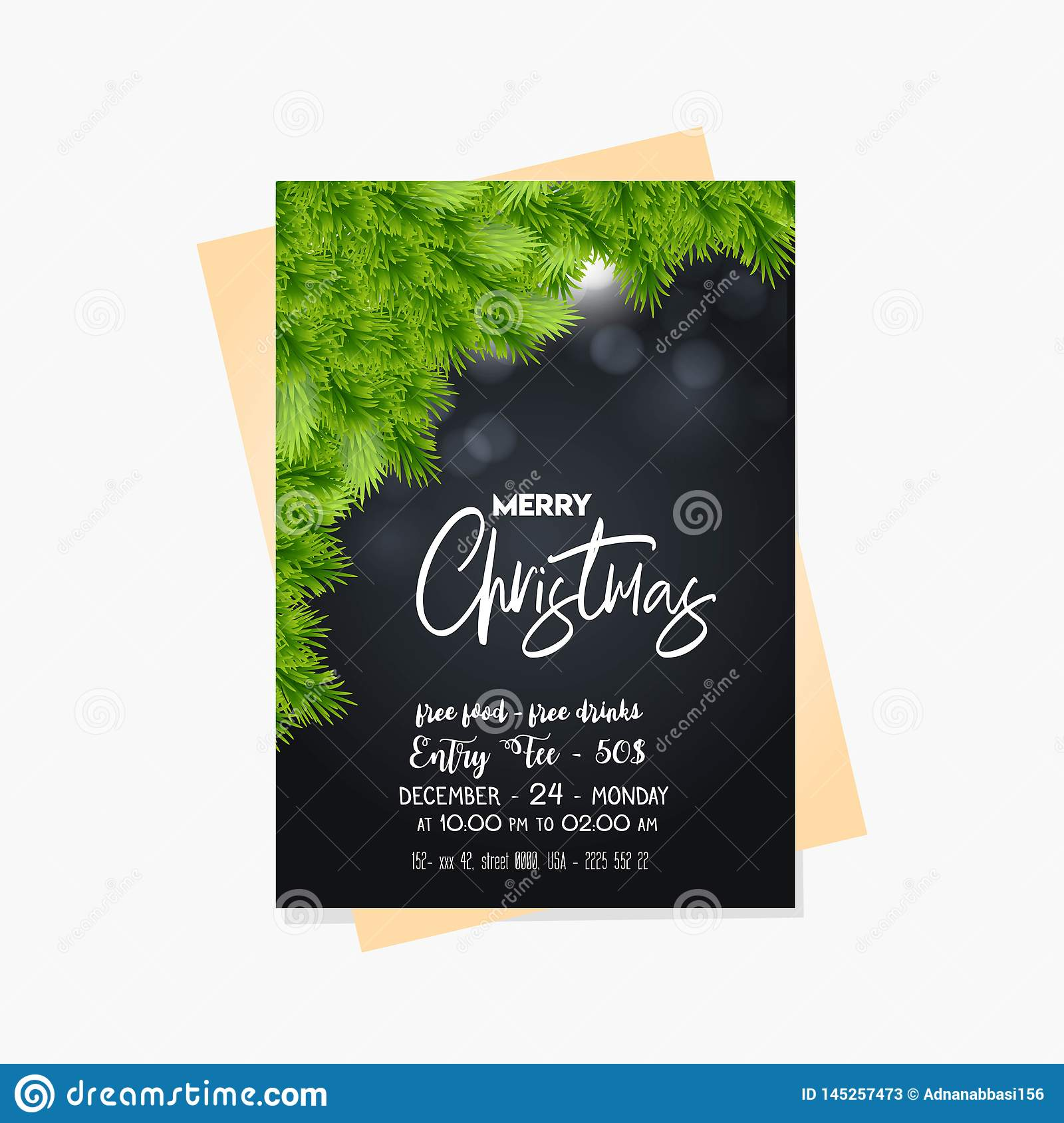Christmas business cards free templates