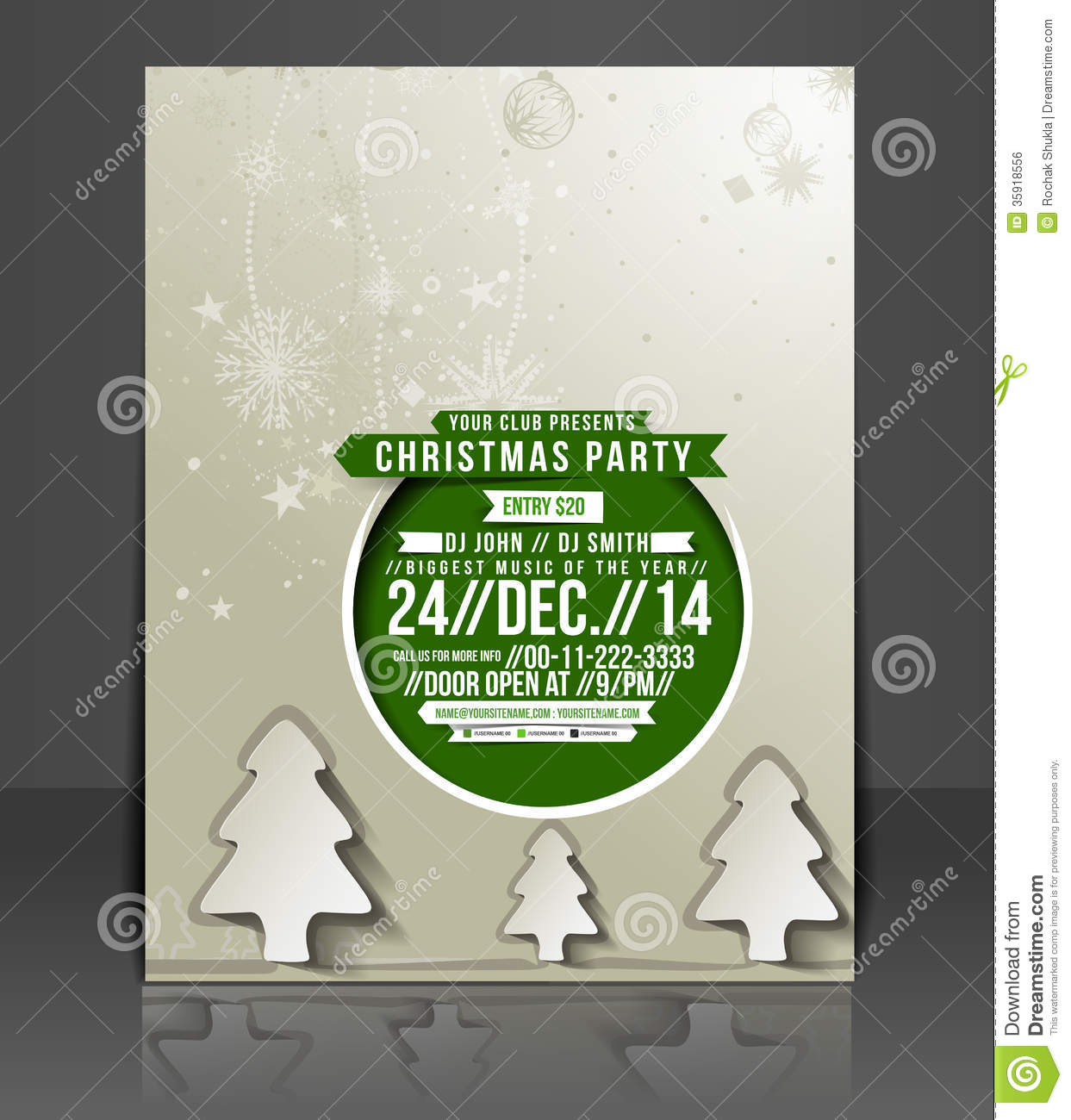 christmas party flyer royalty stock images image  christmas party flyer royalty stock image