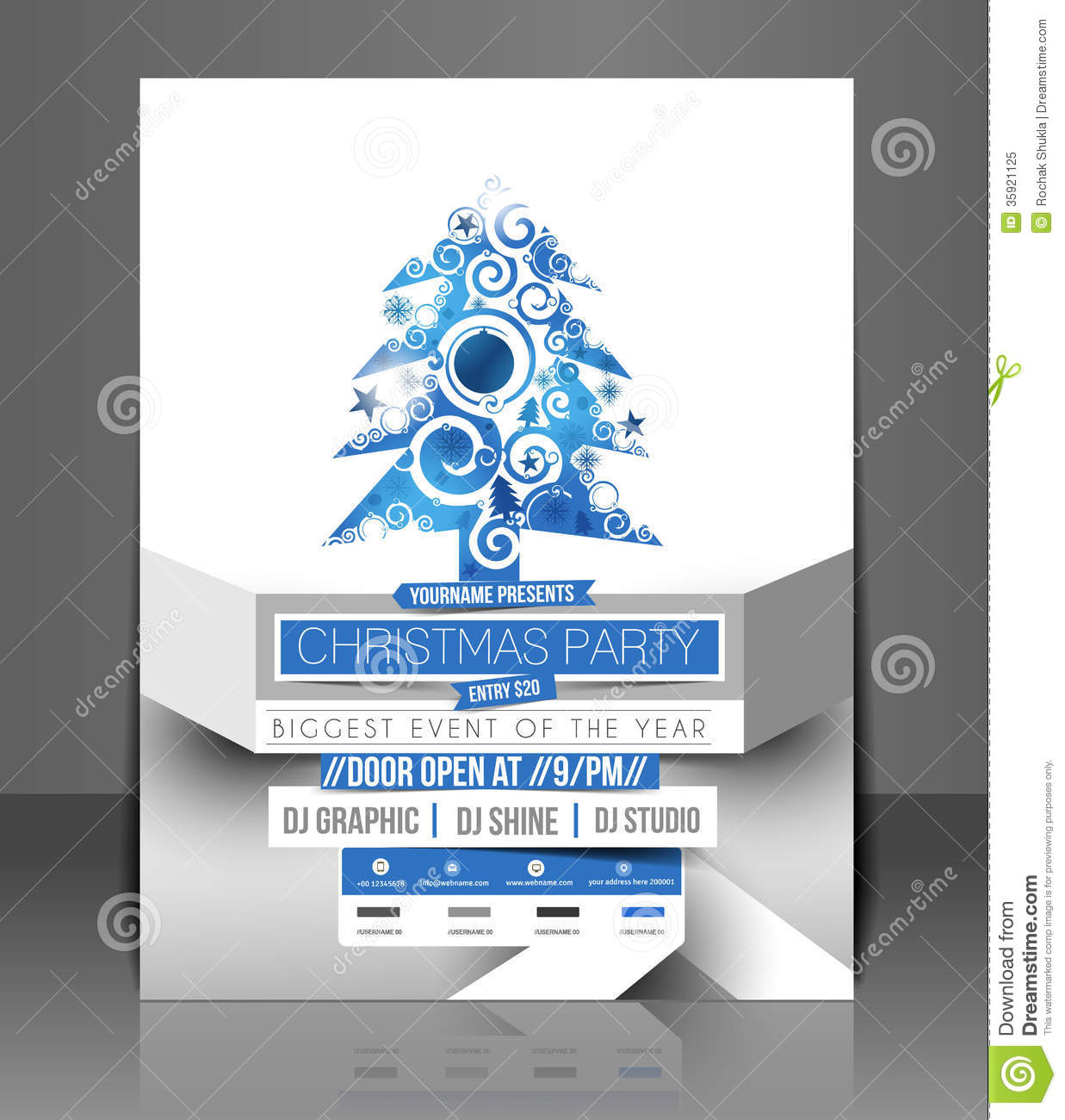 christmas party flyer royalty stock photo image 35921125 christmas party flyer