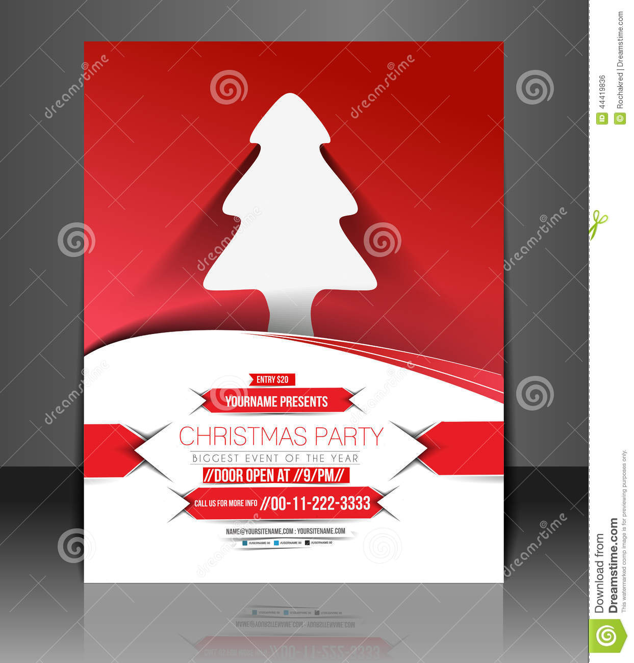 Christmas Party Flyer amp Poster Cover Template