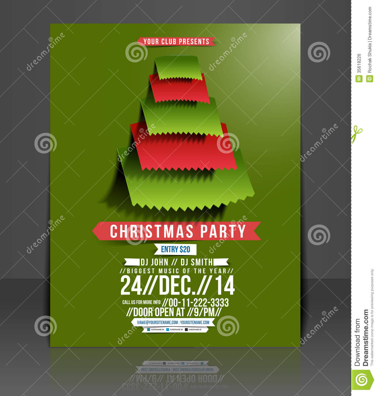 christmas party flyer royalty stock image image 35618226 christmas party flyer